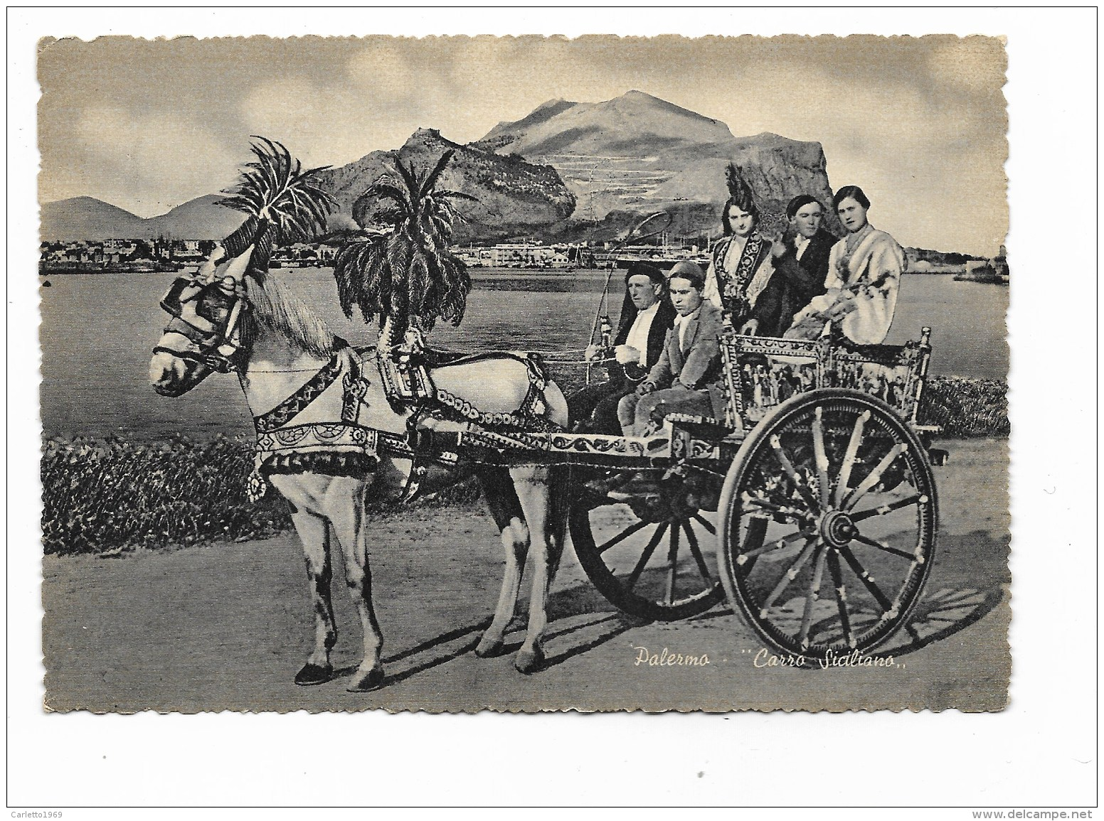 PALERMO - CARRO SICILIANO   VIAGGIATA FG - Palermo
