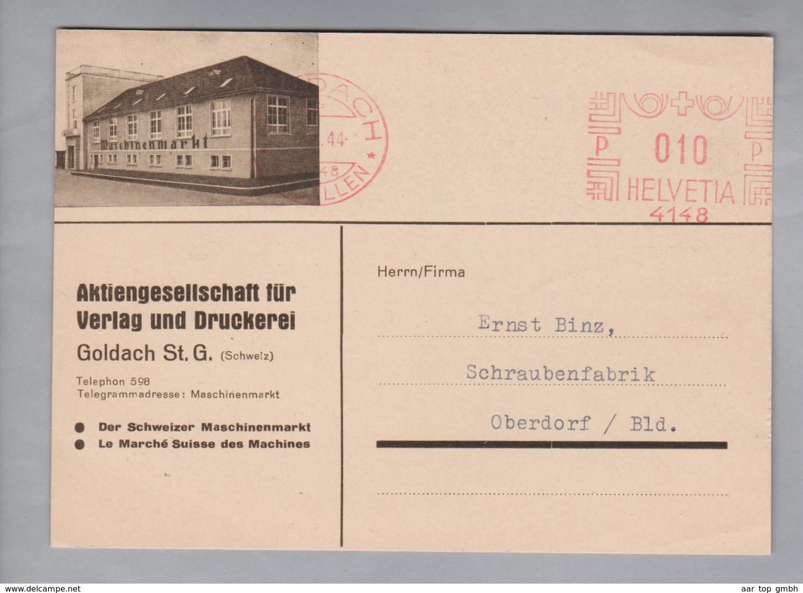 Motiv Industrie Maschinenmarkt 1944-06-06 Frei-O Auf Korresp.karte Mit Foto - Usines & Industries