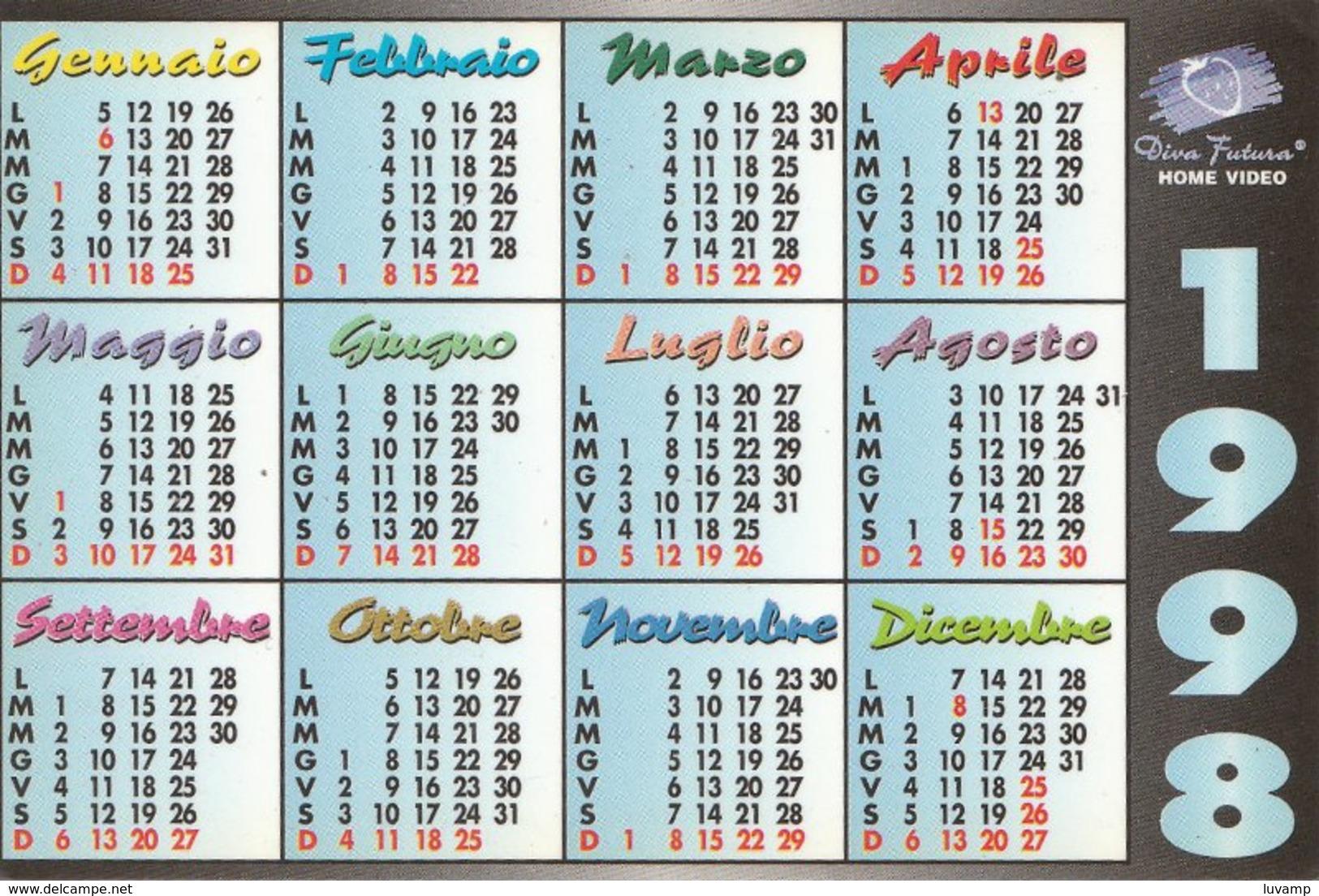 EVA  HENGER -calendario Piccolo 1998 Misure Mm . 70 X 105  (300510) - Calendari