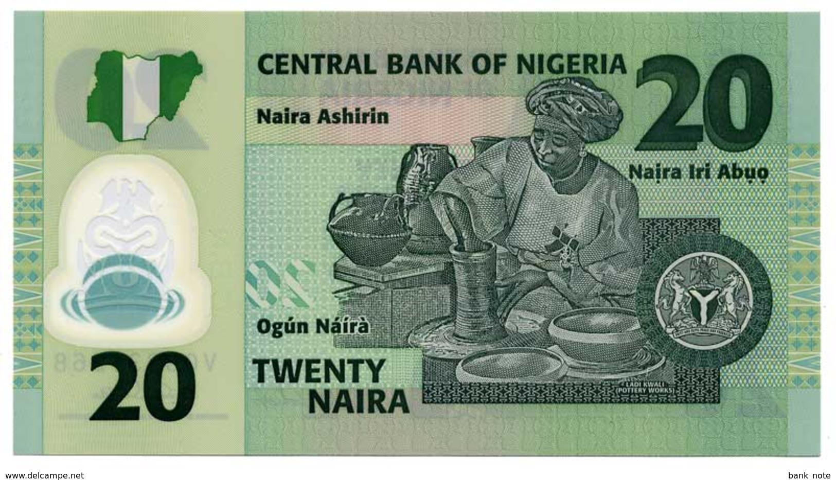 NIGERIA 20 NAIRA 2007 Pick 34b Unc - Nigeria