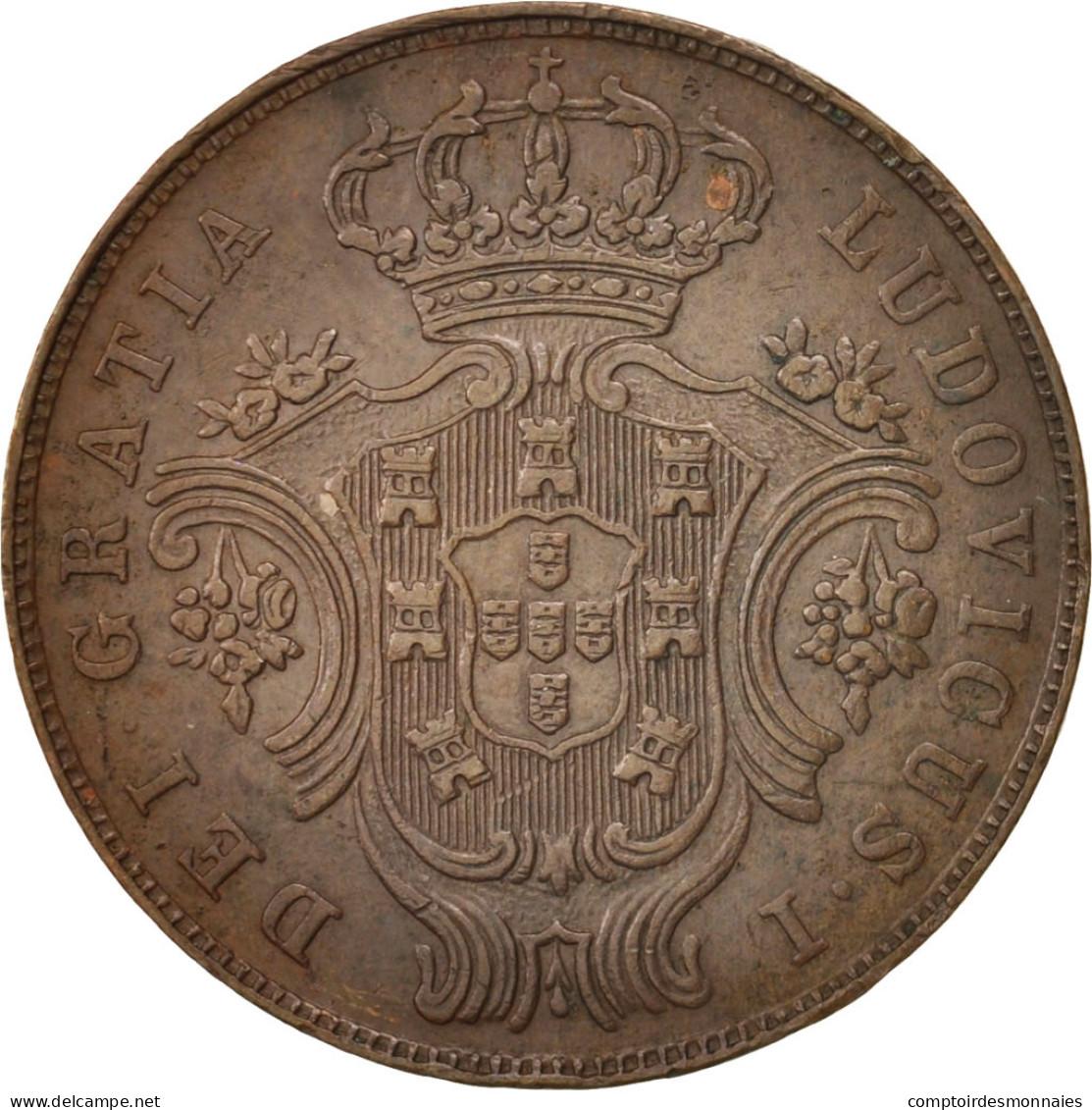 Azores, 5 Reis, 1880, Cuivre, KM:13 - Açores