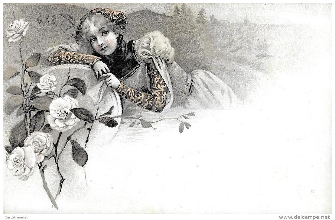 [DC3752] CPA - SERIE DI 3 CARTOLINE - DONNE CON CAPPELLI - Viaggiate - Old Postcard - Femmes