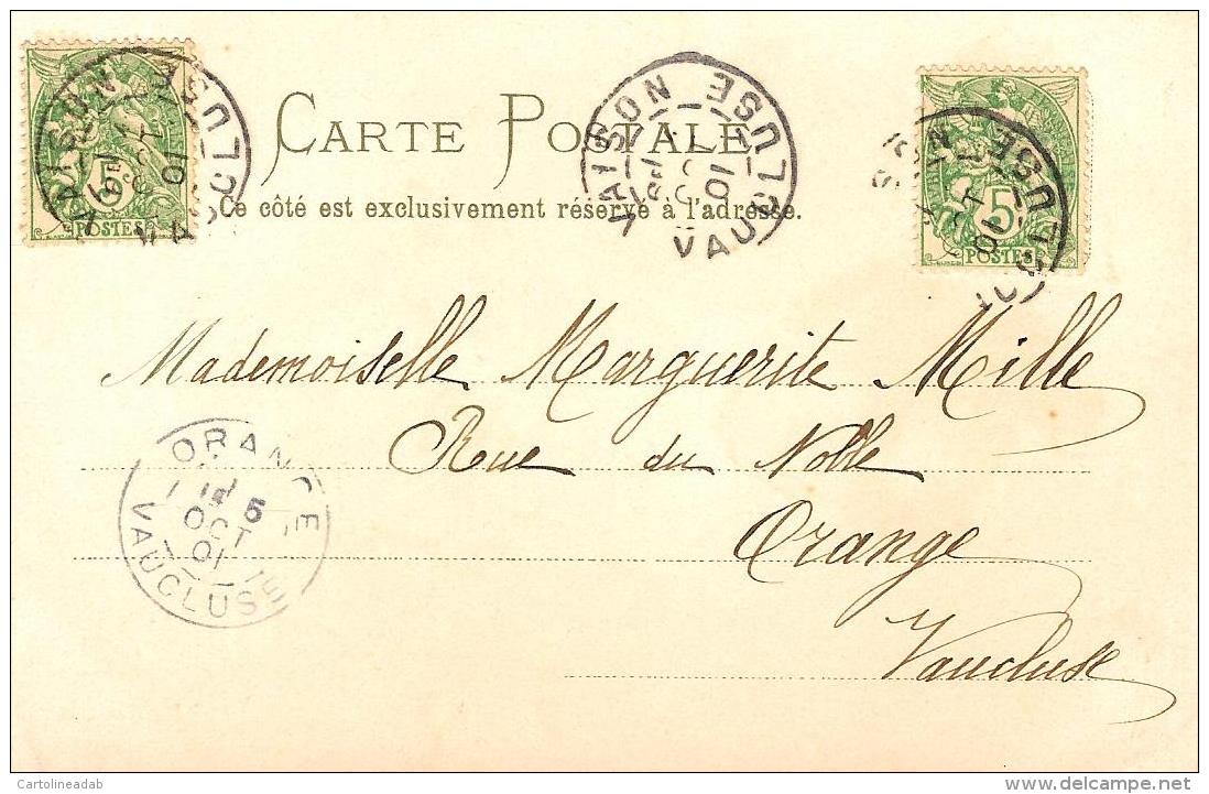 [DC3772] CPA - DONNA FEMMES - Viaggiata 1901 - Old Postcard - Femmes