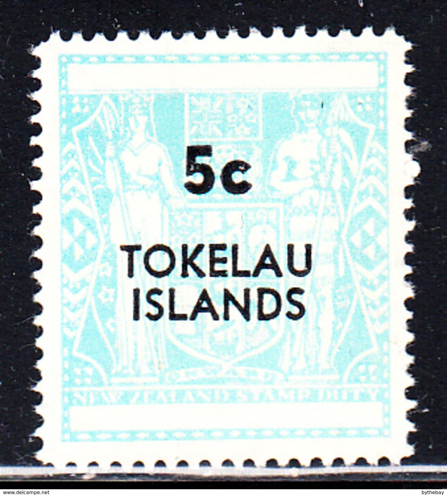 Tokelau MNH Scott #13 5c Surcharge On New Zealand Postal-Fiscal Coat Of Arms 1967 - Tokelau