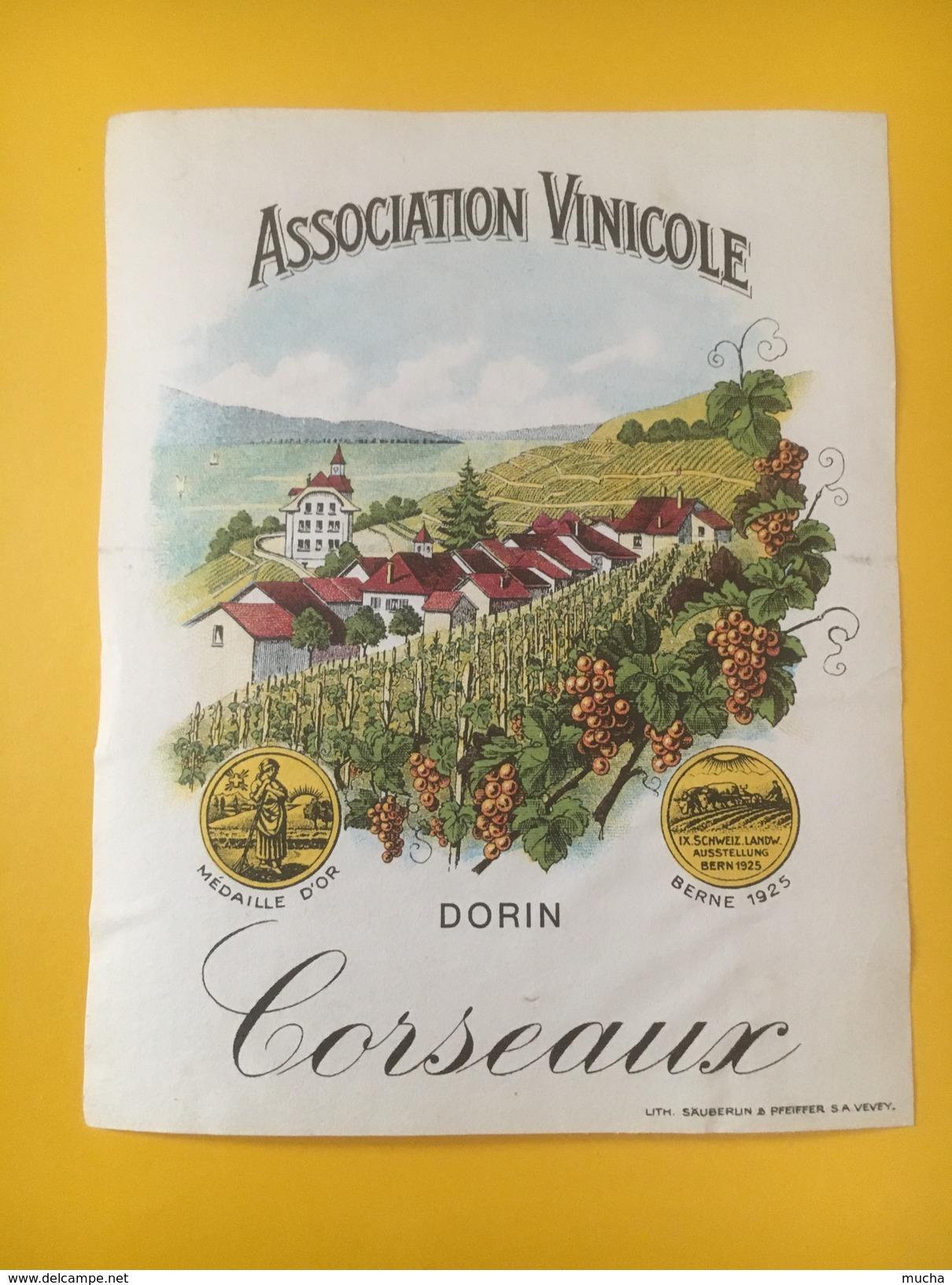 2797 - Suisse Vaud Dorin Association Vinicole Corseaux - Etiquettes