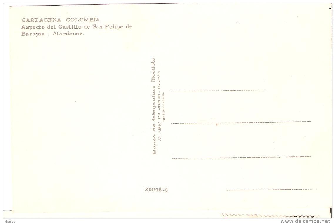 CPM -  COLOMBIA - CARTAGENA   : Aspecto Del Castillo De San Felipe De Barajas . Atardecer . - Colombia