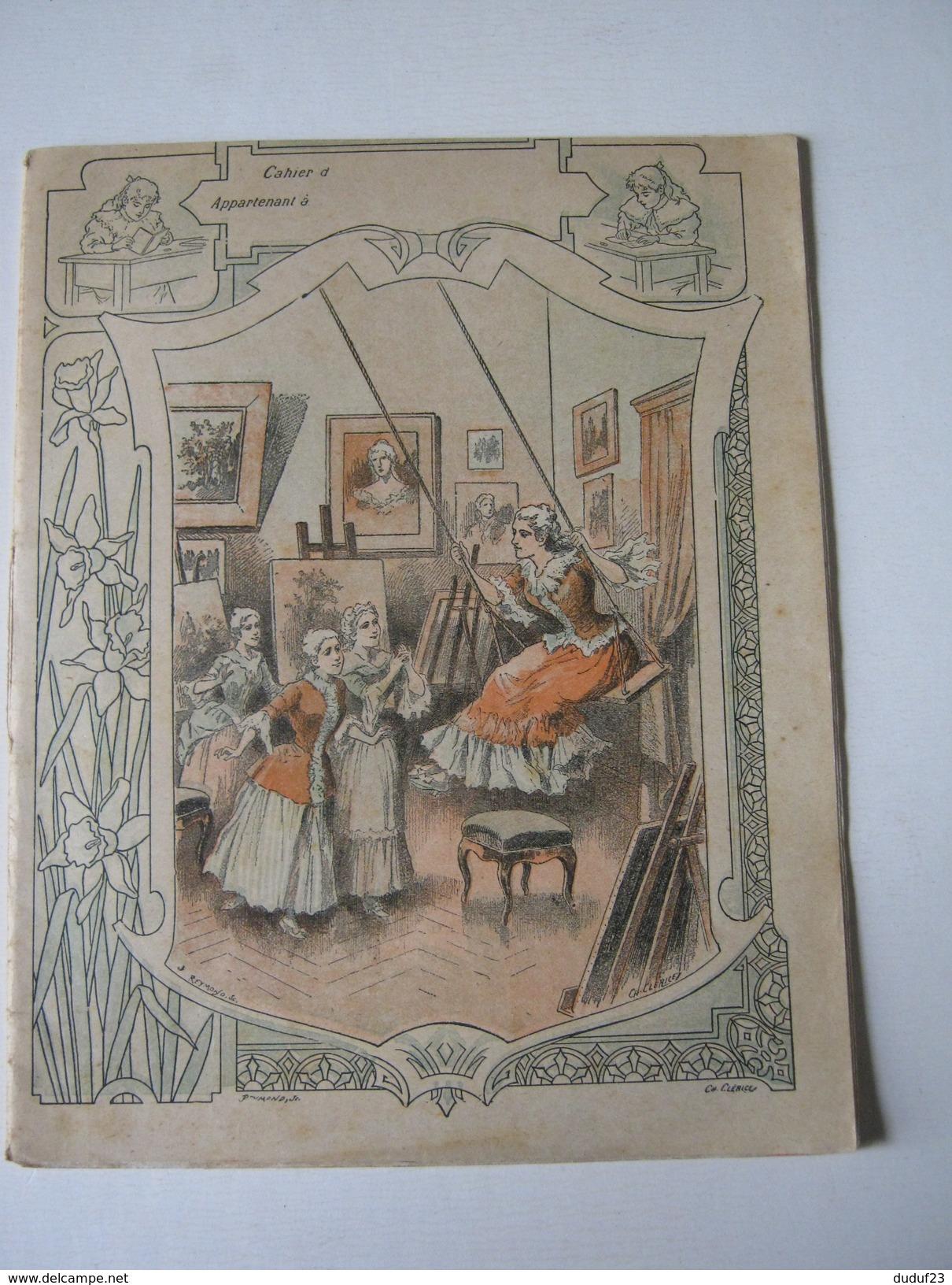 CAHIER ECOLE 1902 ENTIEREMENT ECRIT MADAME VIGEE-LEBRUN Imp DUPONT - Graveur REYMOND SC - LITHO Ch CLERICE - Kids