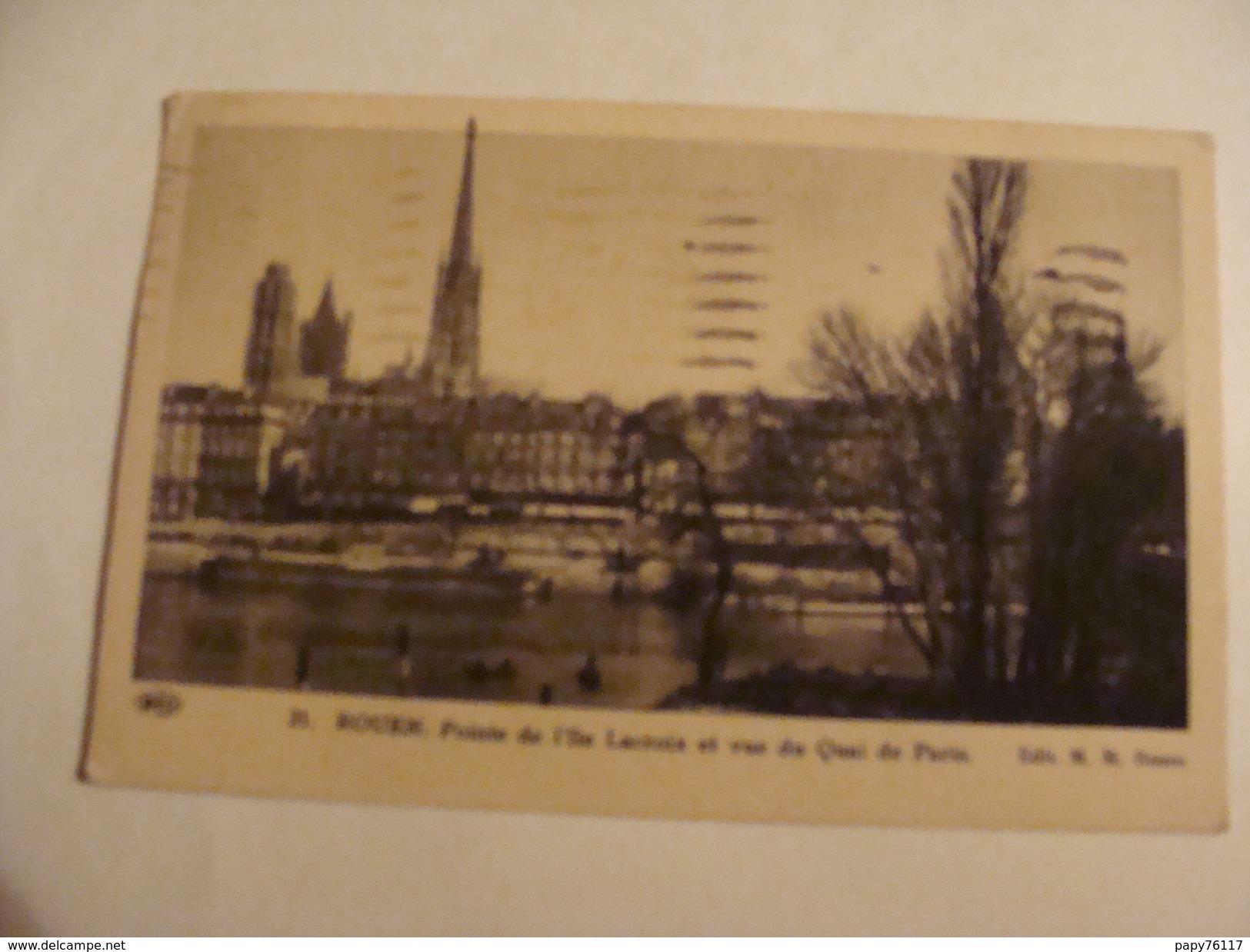 CPA  76 * ROUEN  POINTE DE L ILE LACROIX ET VUE DU QUAI DE PARIS - Rouen