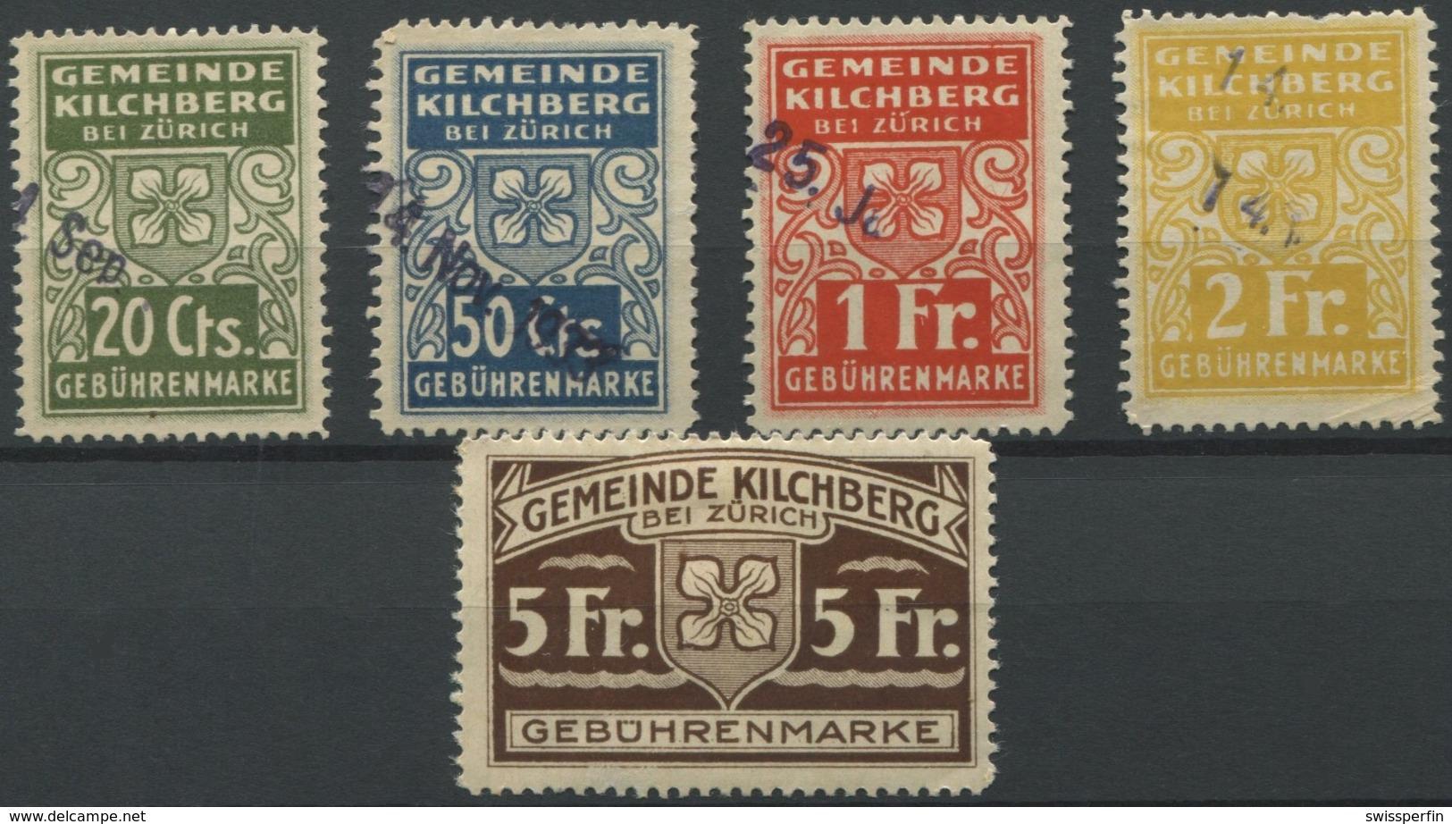 1585 - KILCHBERG - Fiskalmarken - Steuermarken