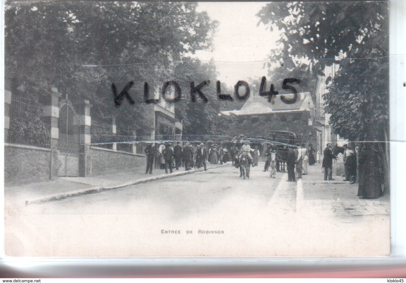 92 ROBINSON - ENTREE DE ROBINSON - Vue Prise Au Niveau Du TABAC En été  - Animé Enfant Sur Un âne , Calèche - CPA 1903 - Francia