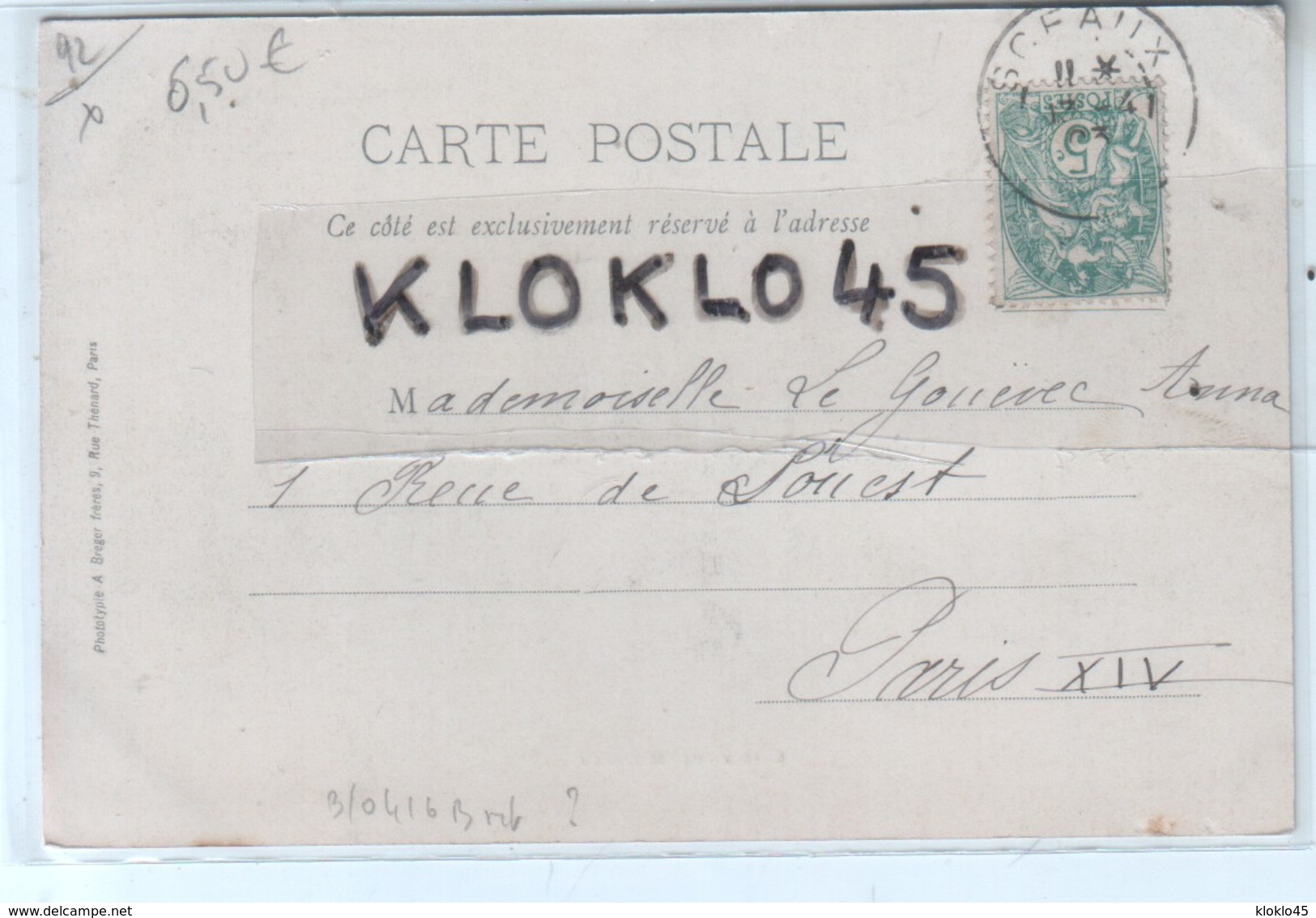 92 ROBINSON - ENTREE DE ROBINSON - Vue Prise Au Niveau Du TABAC En été  - Animé Enfant Sur Un âne , Calèche - CPA 1903 - Otros Municipios