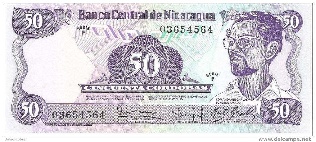 Nicaragua - Pick 140 - 50 Cordobas 1984 - Unc - Nicaragua