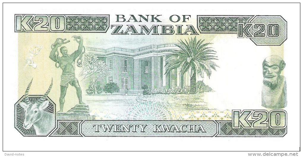 Zambia - Pick 32b - 20 Kwacha 1991 - Unc - Zambie