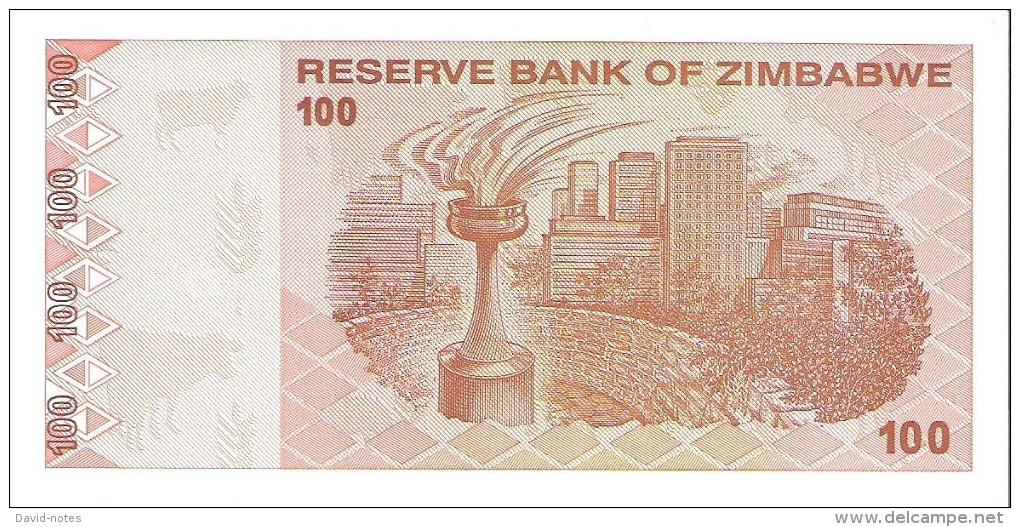 Zimbabwe - Pick 97 - 100 Dollars 2009 - Unc - Zimbabwe