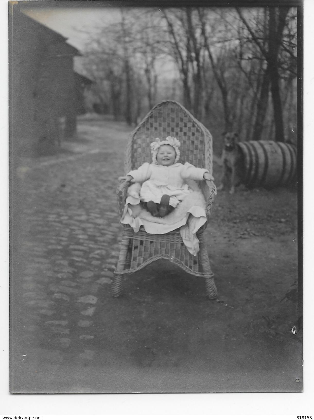 Groot-Bijgaarden Grand-Brigand 15/3/1908 : Kindje Van Mr. Pelgrims ?(originele Foto 12x9cm) - Dilbeek