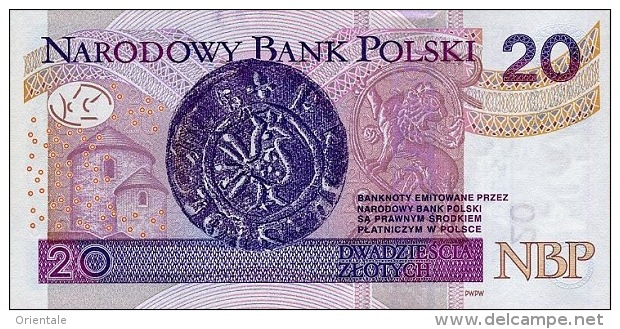 POLAND P. 184 20 Z 2012 UNC - Pologne
