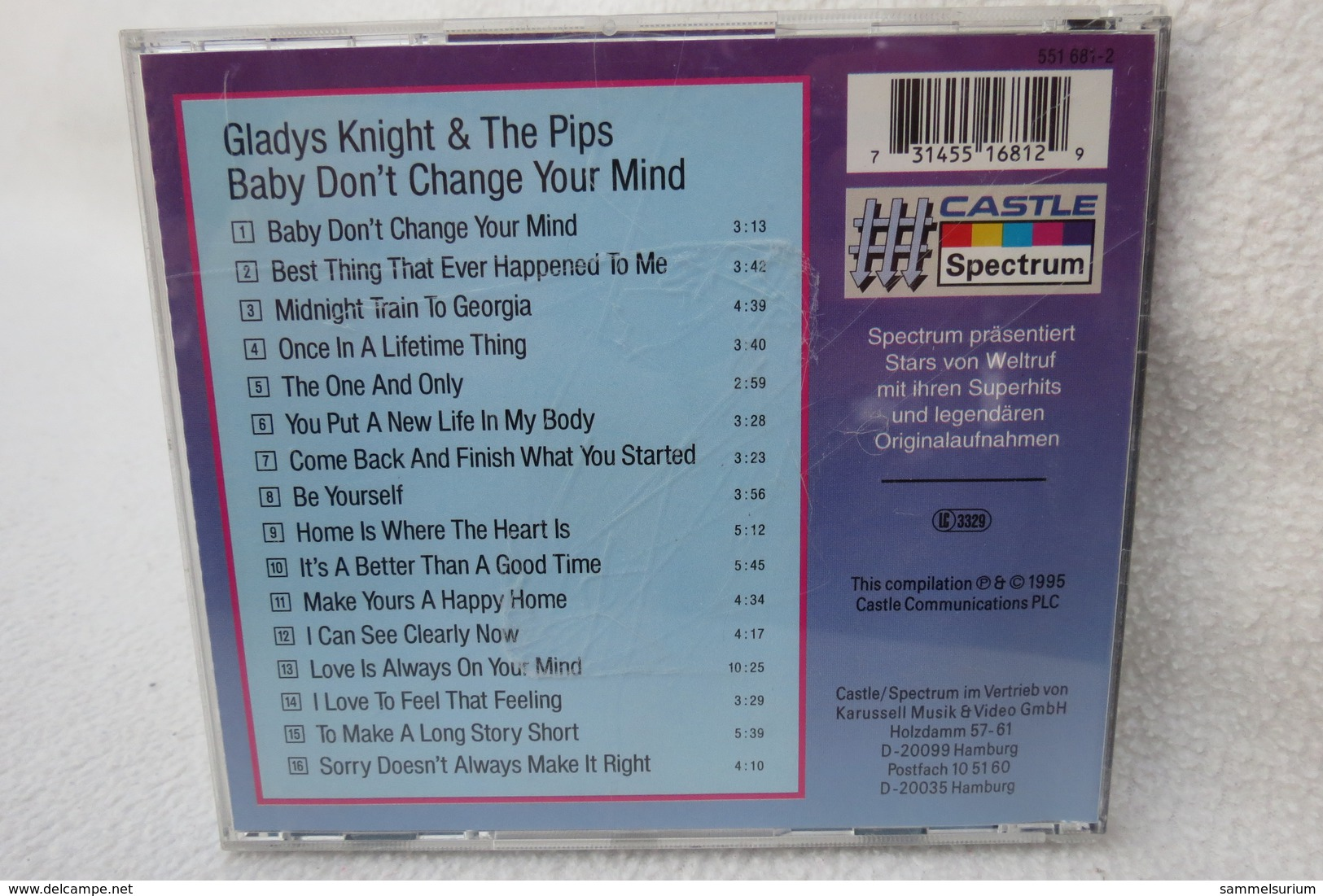 """CD """"Glady´s Knight & The Pips"""" Baby, Don´t Change Your Mind - Musik & Instrumente"""