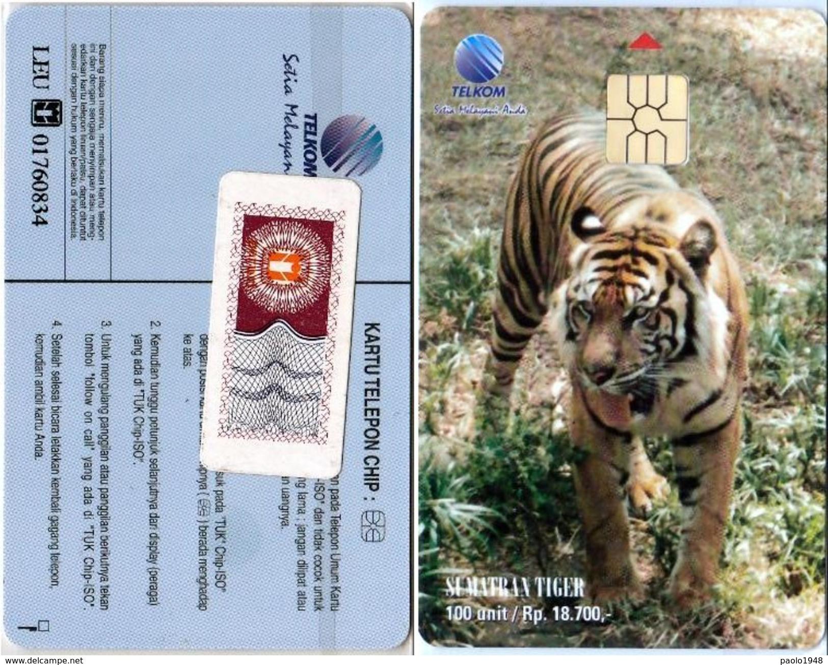 INDONESIA INDONESIEN - SS 65 Sumatran Tigers  - Mint With Original Blister- RRR - Indonesia