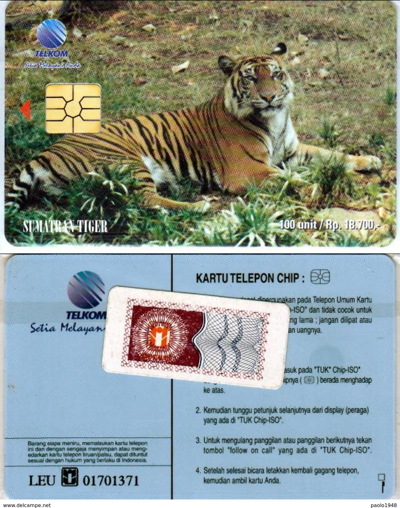INDONESIA INDONESIEN - SS 66 Sumatra Tiger Horizontal - Mint With Original Blister- RRR - Indonesia