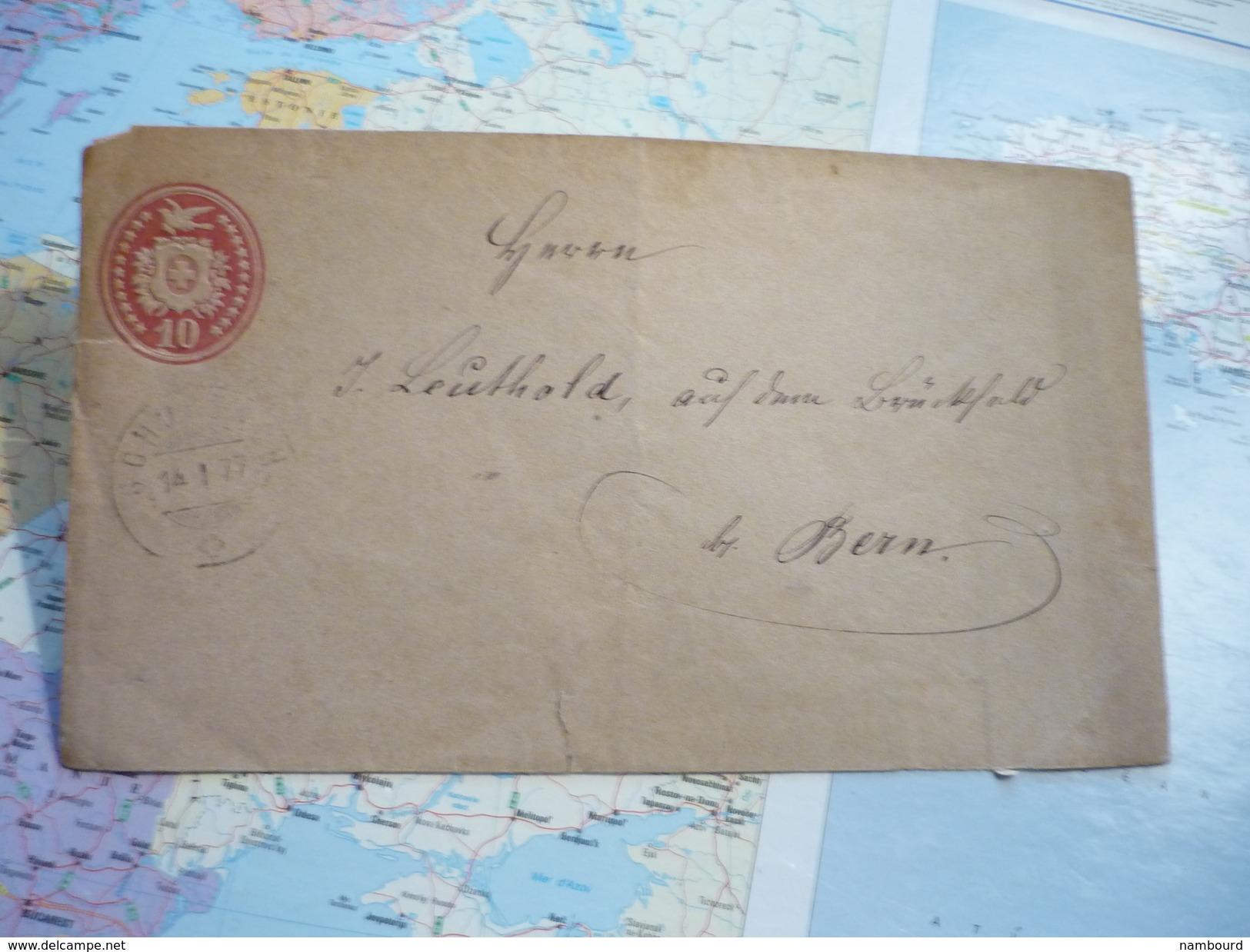 Entier Postal Lettre 10 C - Interi Postali