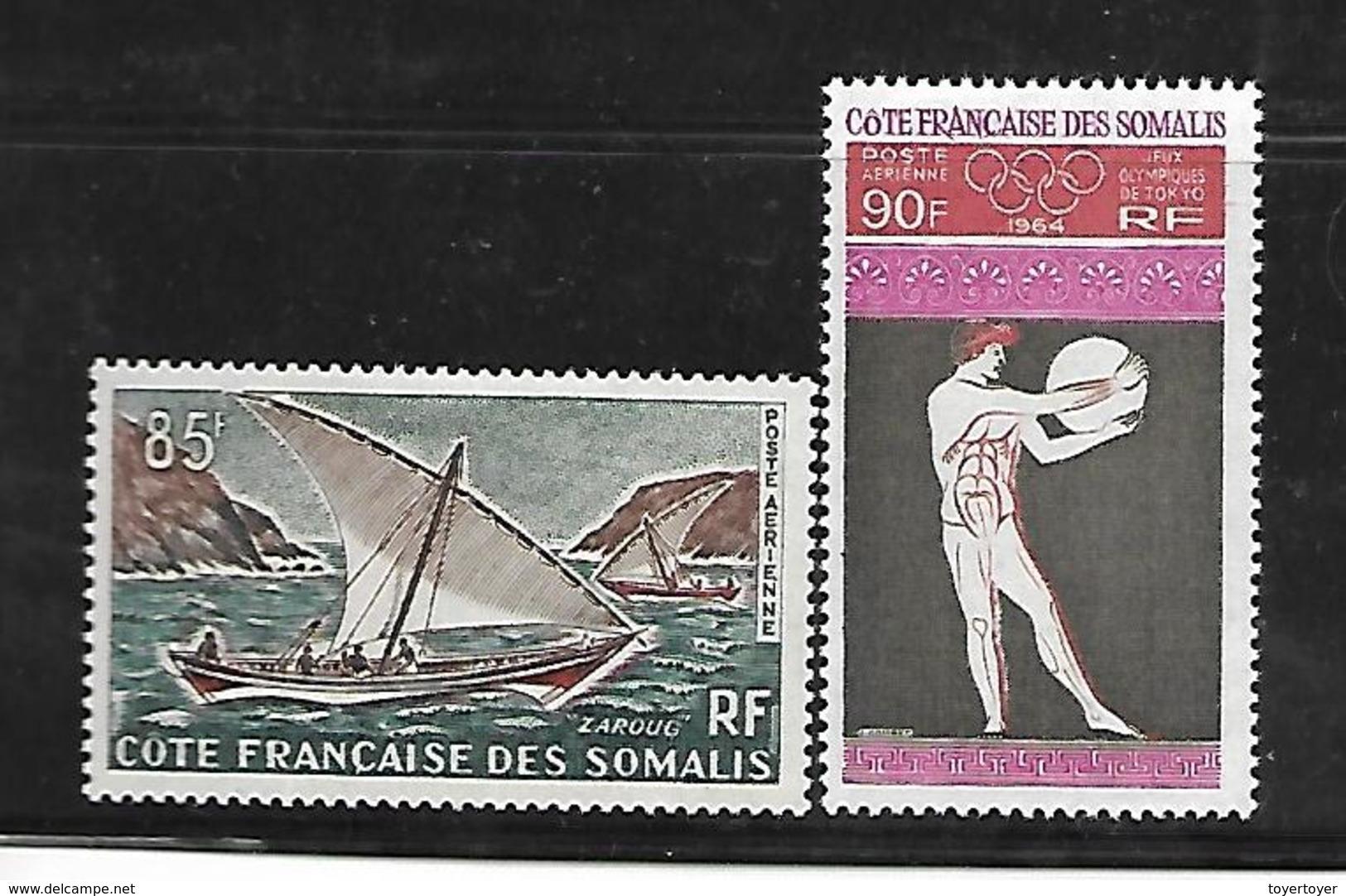 C 72 Côtes Françaises Des Somalis PA N°39 Et 41 N+ - Neufs
