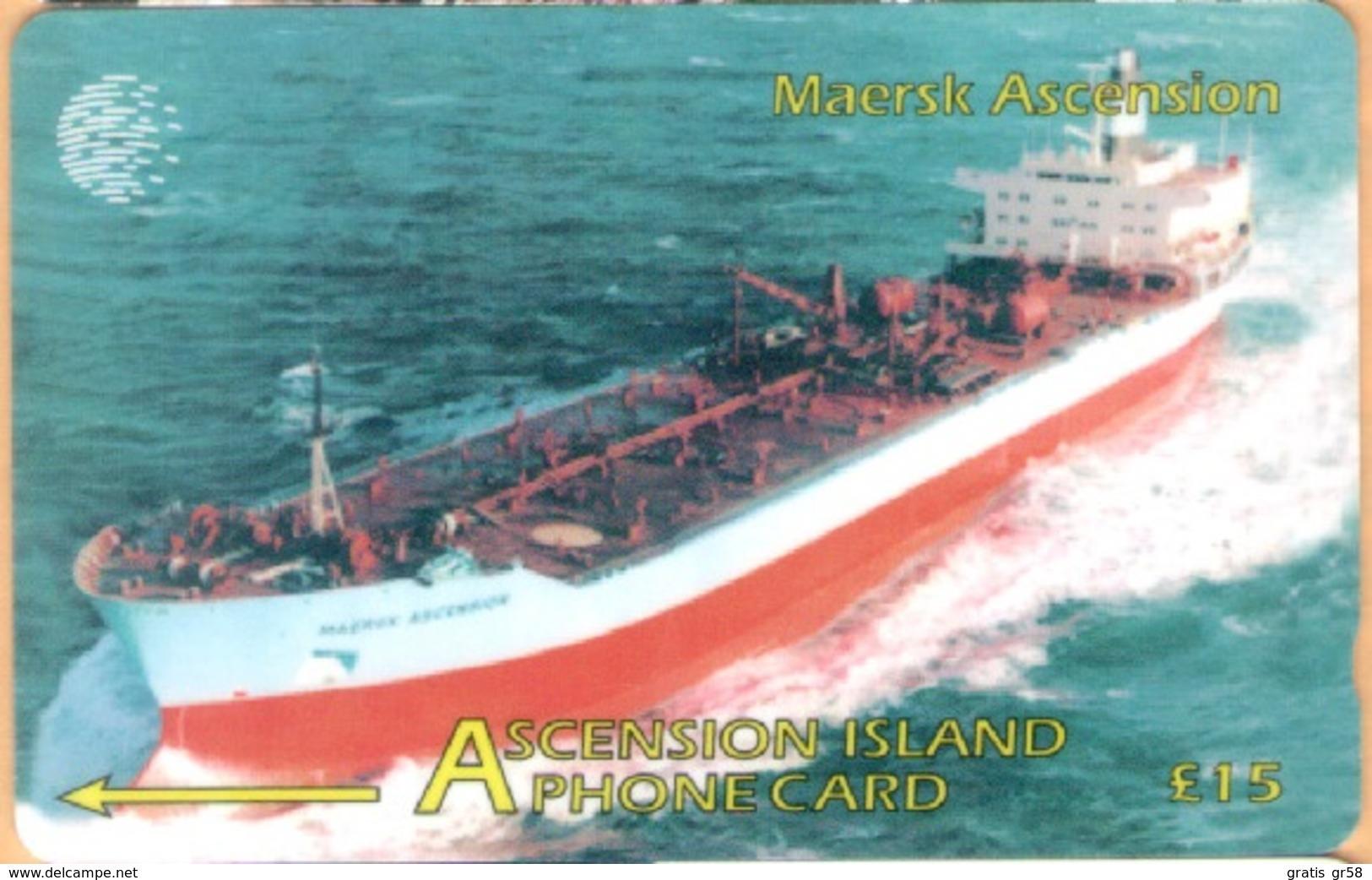 Ascension - 268CASB, GPT, Maersk Ascencion, 5000ex, 1998, Used - Ascension (Insel)