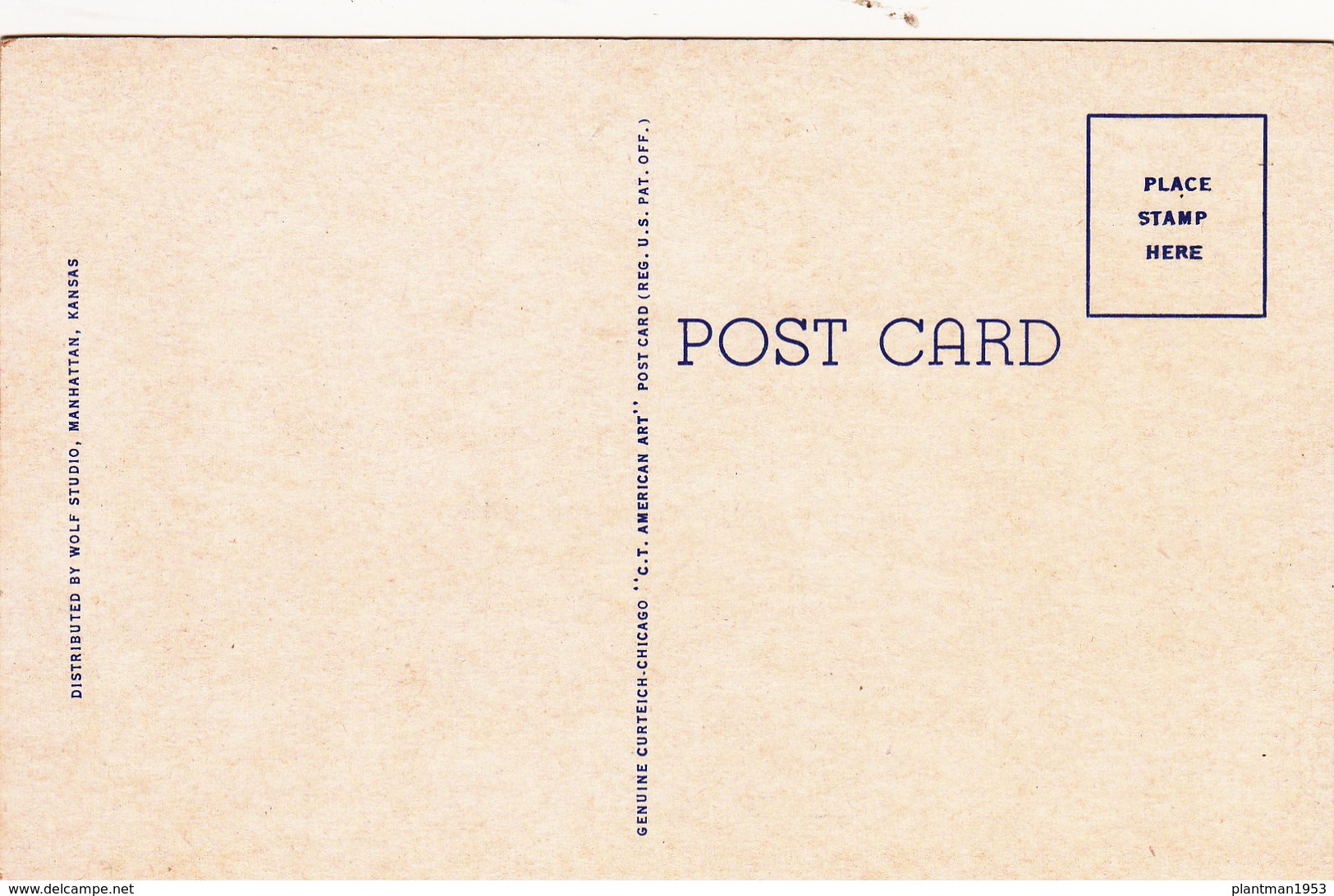 Old Postcard Of Court House,Manhattan,Kansas, United States ,J61. - Manhattan