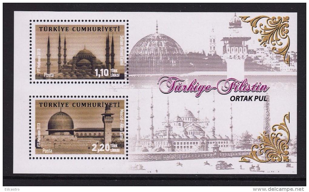 TURKEY TURQUIE 2013 MINIATURE SHEET. TURKEY-PALESTINE JOINT STAMP - Neufs