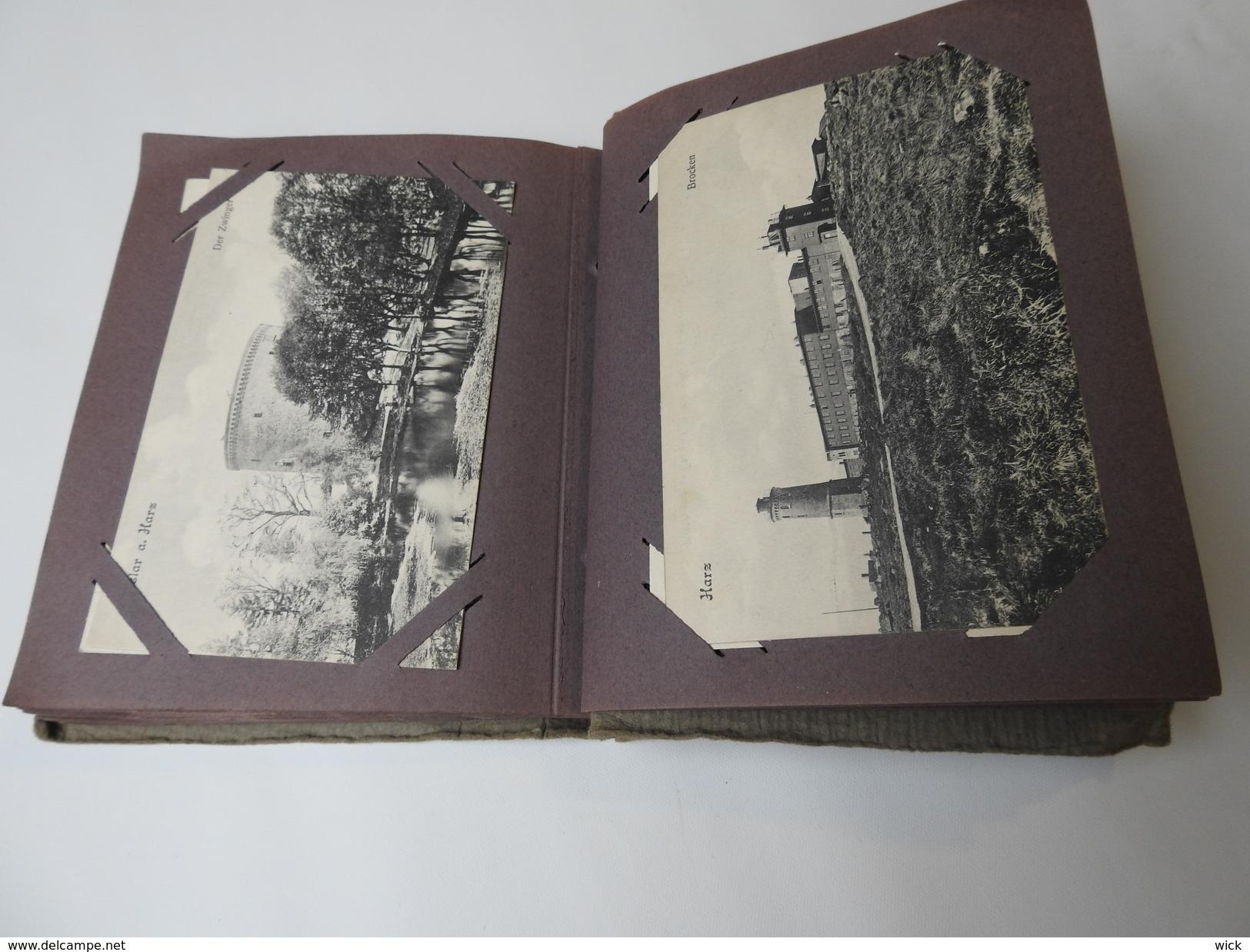 AK Altes Postkartenalbum, AK-Album Ca. 100 Jahre Alt, Dachbodenfund Voll Mit 50 Ansichtskarten Deutschland -rar !!! - Ansichtskarten