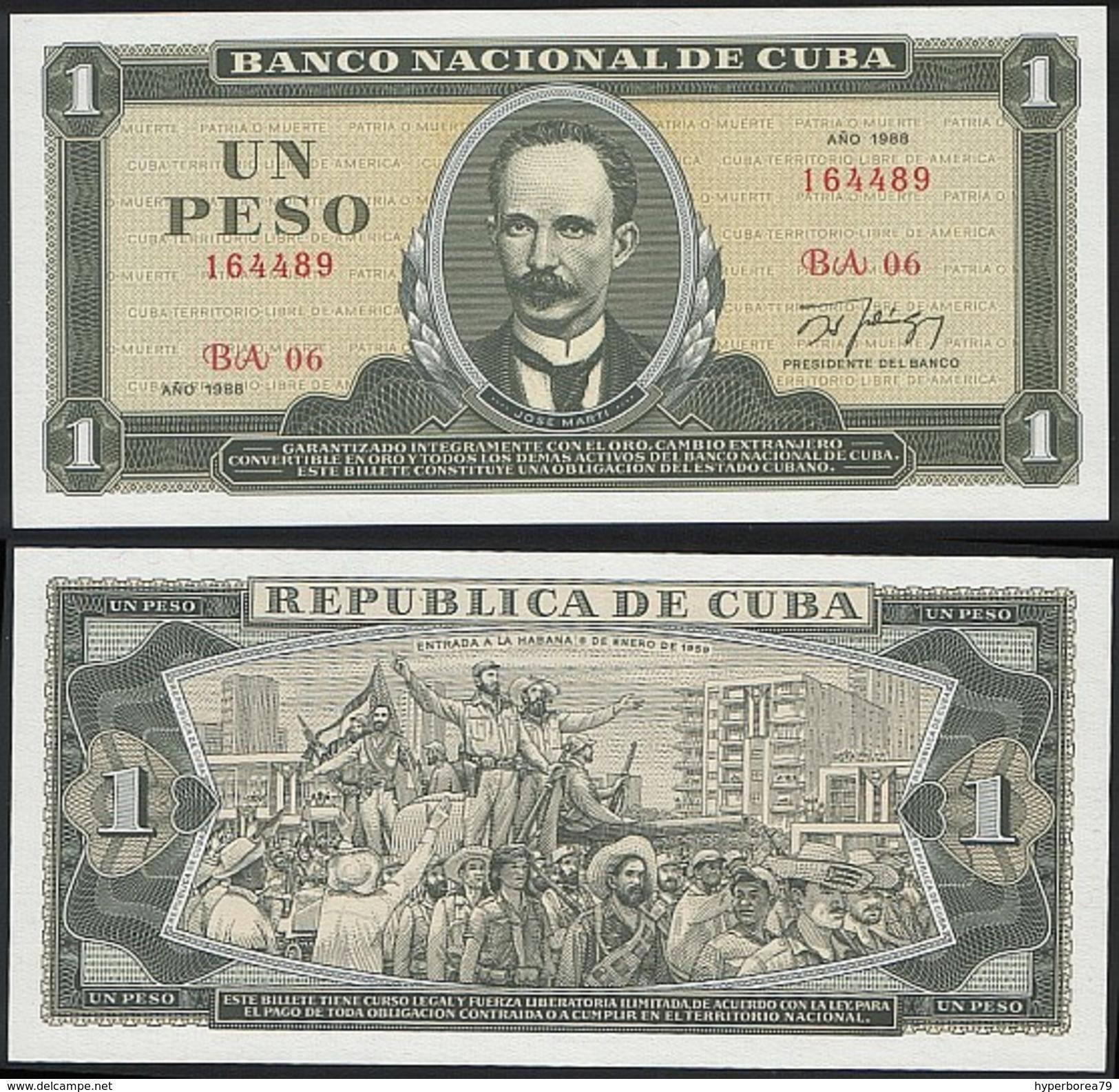 Cuba P 102 D - 1 Peso 1988 - UNC - Cuba
