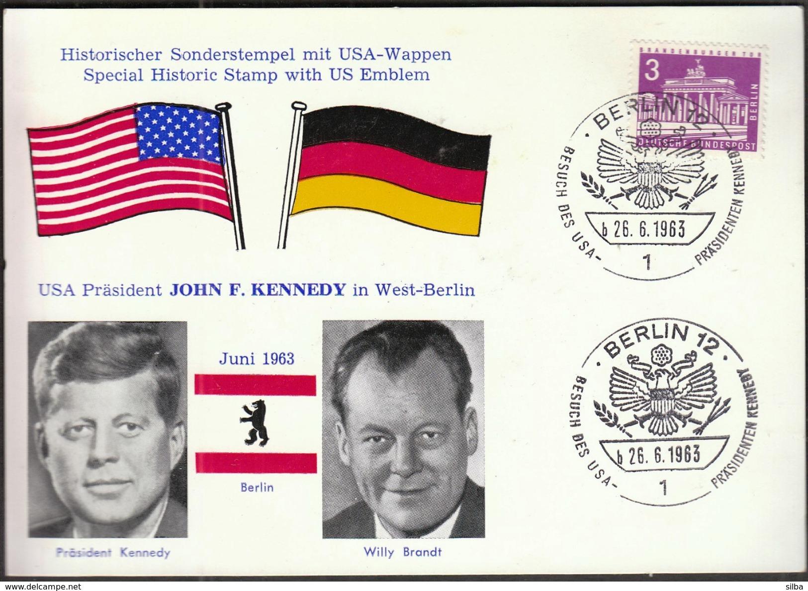 Germany Berlin 1963 / John Ford Kennedy In West Berlin / Willy Brandt - Kennedy (John F.)