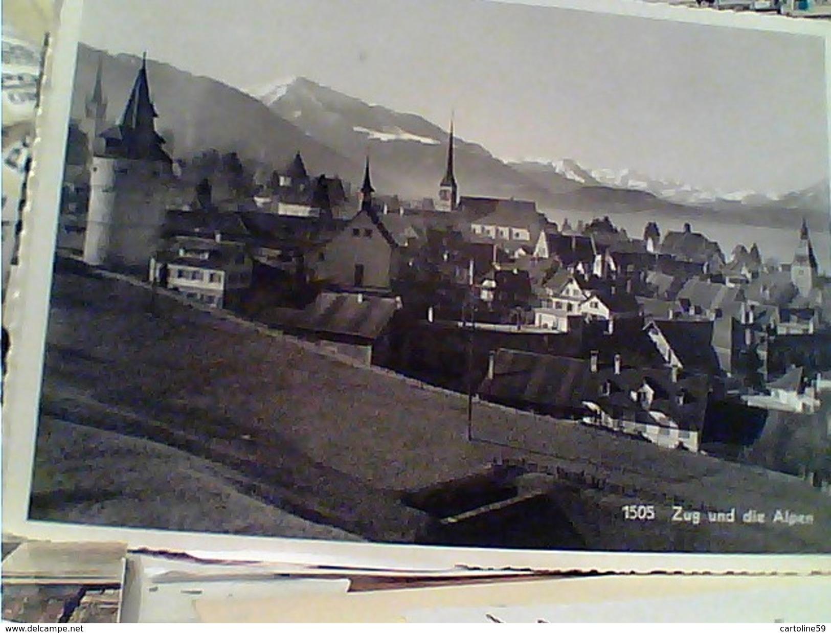 SUISSE SVIZZERA Schweiz   ZUG UND DIE ALPEN VB1947 FW9332 - ZG Zoug
