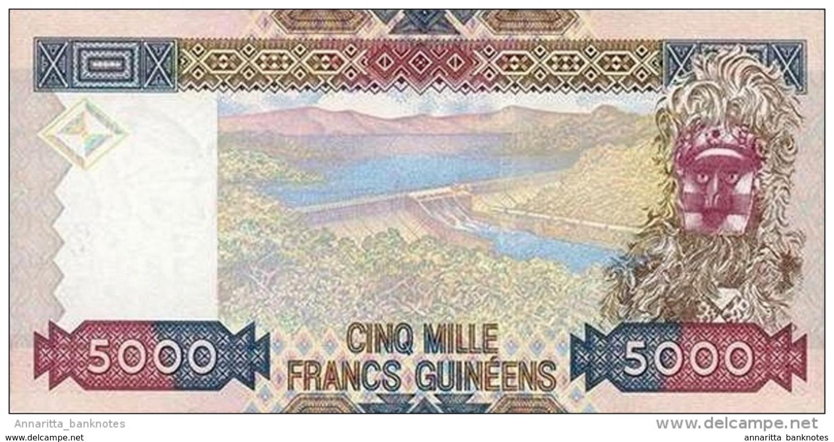 GUINÉE 5000 FRANCS 2012 P-41b NEUF [GN330b] - Guinea