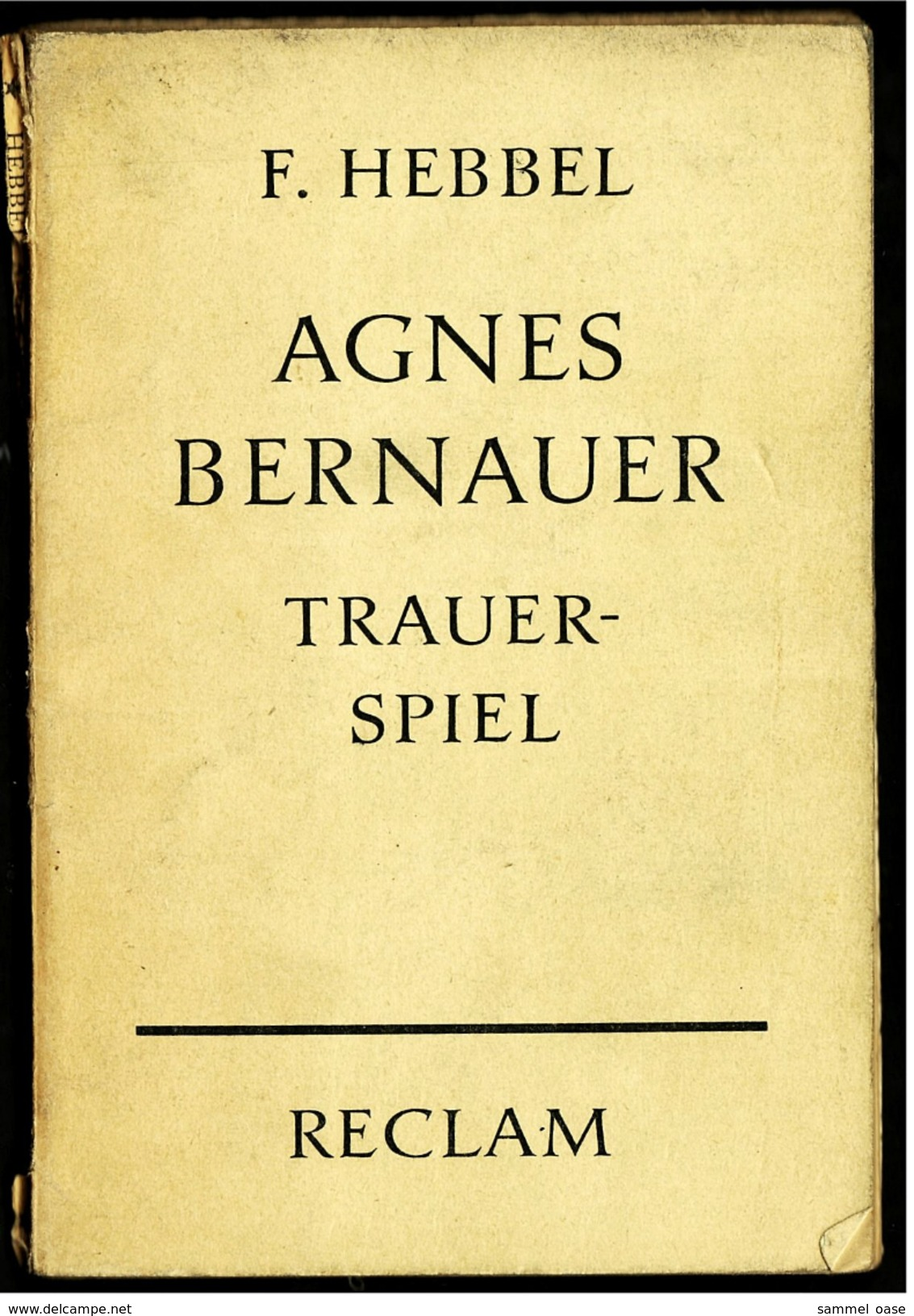 Reclam Heft  -  Trauerspiel  -  Von F. Hebbel  -  1960 - Theatre & Scripts