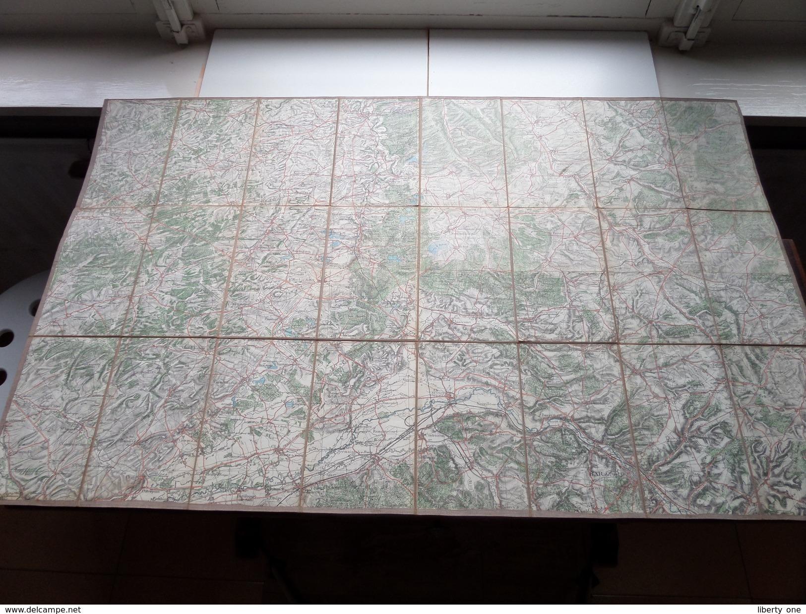 Carte Topografique MENEHOULD / BAR-Le-Duc La France ( Oudere 2de Hands Kaart Op Katoen / Cotton ) ! - Europe