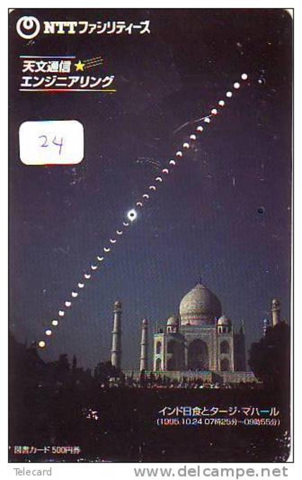 Télécarte INDE Reliée TAJ MAHAL  (24)  Phonecard INDIA RELATED * Telefonkarte INDIA Verbunden - Japan - Inde
