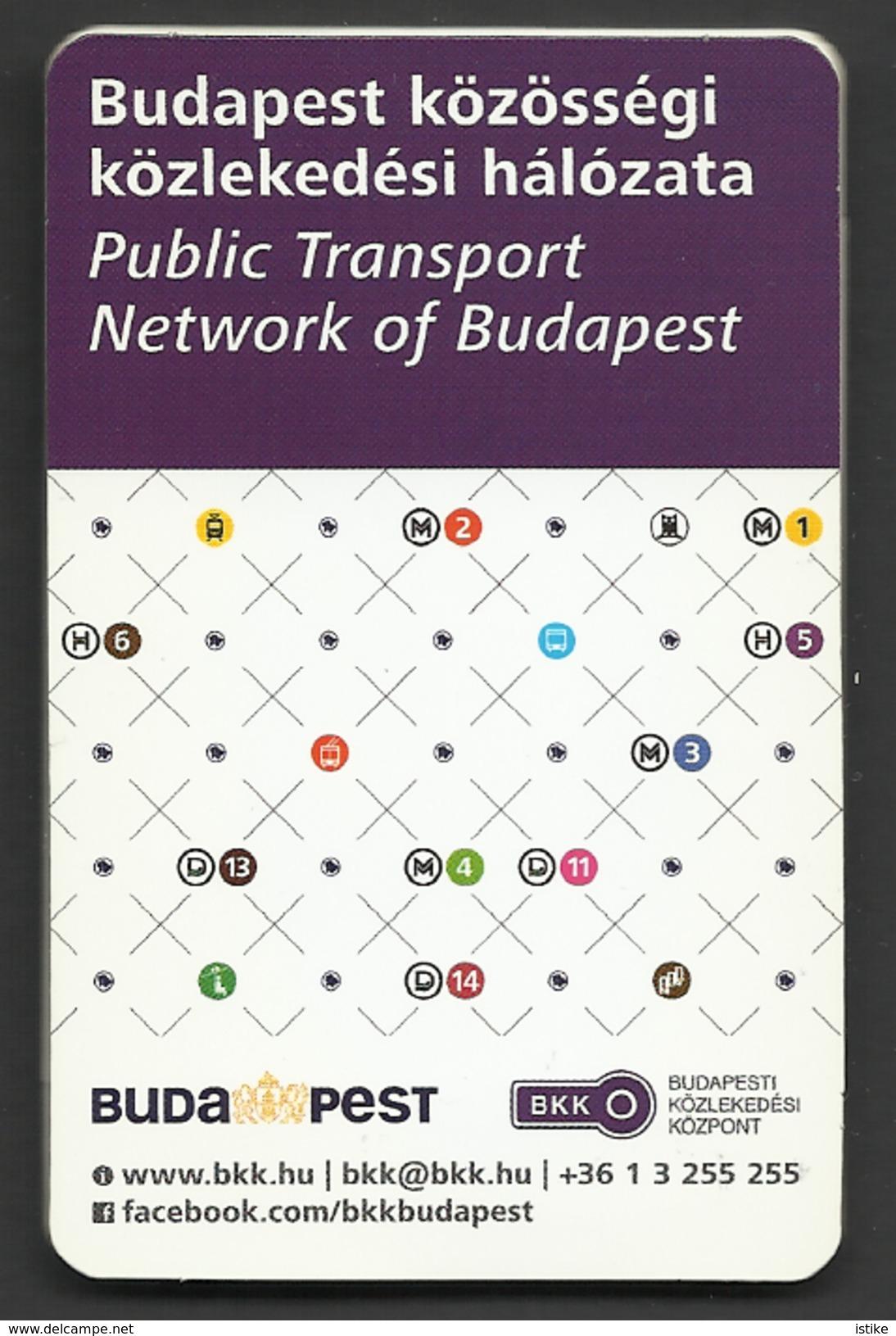 Hungary, Public Transport Network Of Budapest, 2016. - Europe