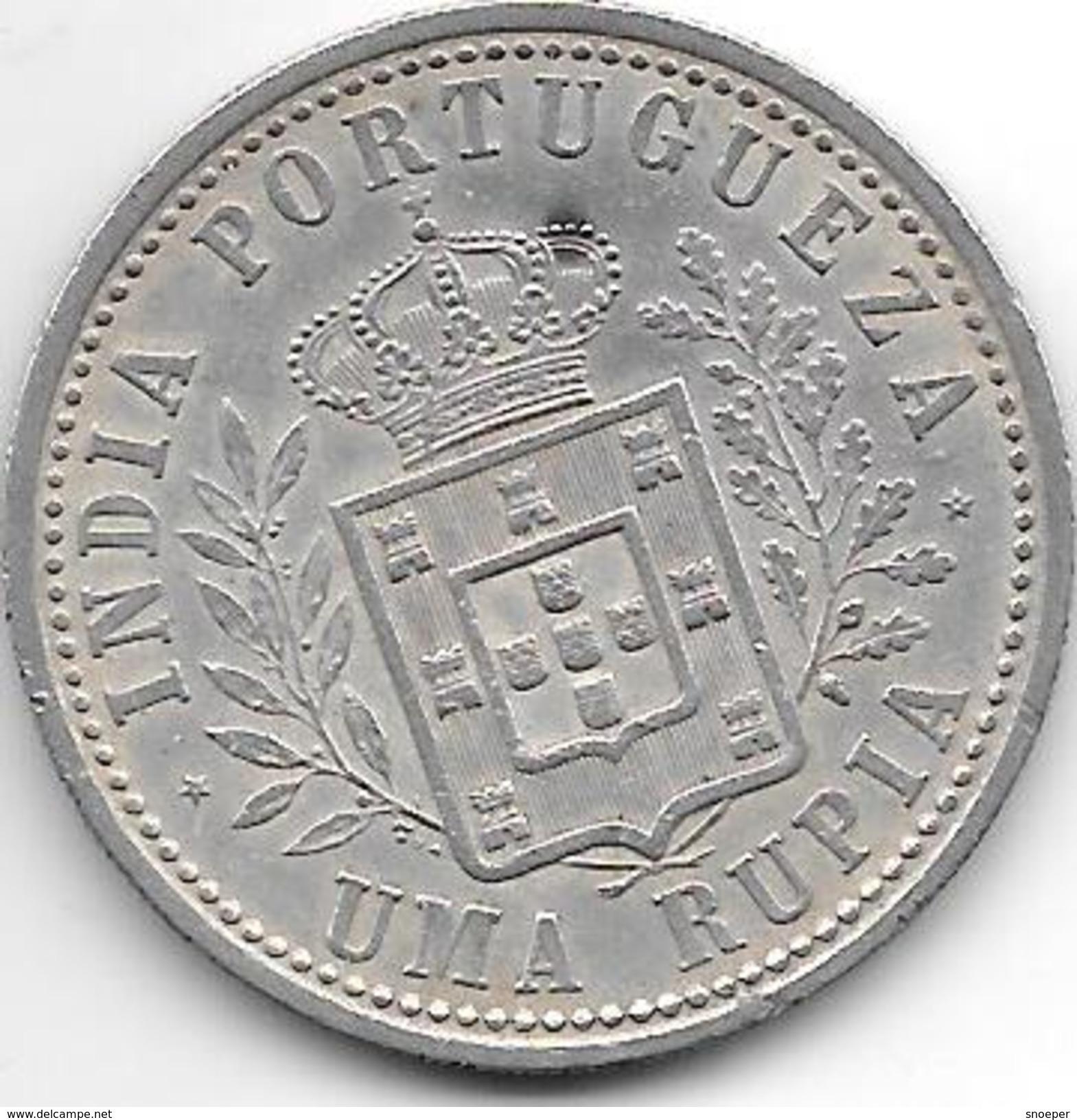 *portuguese India 1 Rupia 1903 Km 17 - Inde