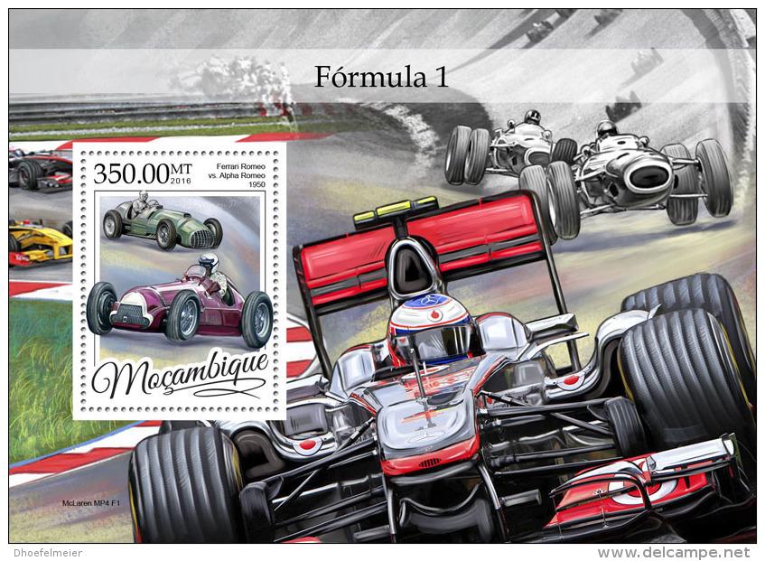 MOZAMBIQUE 2016 ** Formula 1 Formel 1 Formule 1 S/S - OFFICIAL ISSUE - A1649 - Cars