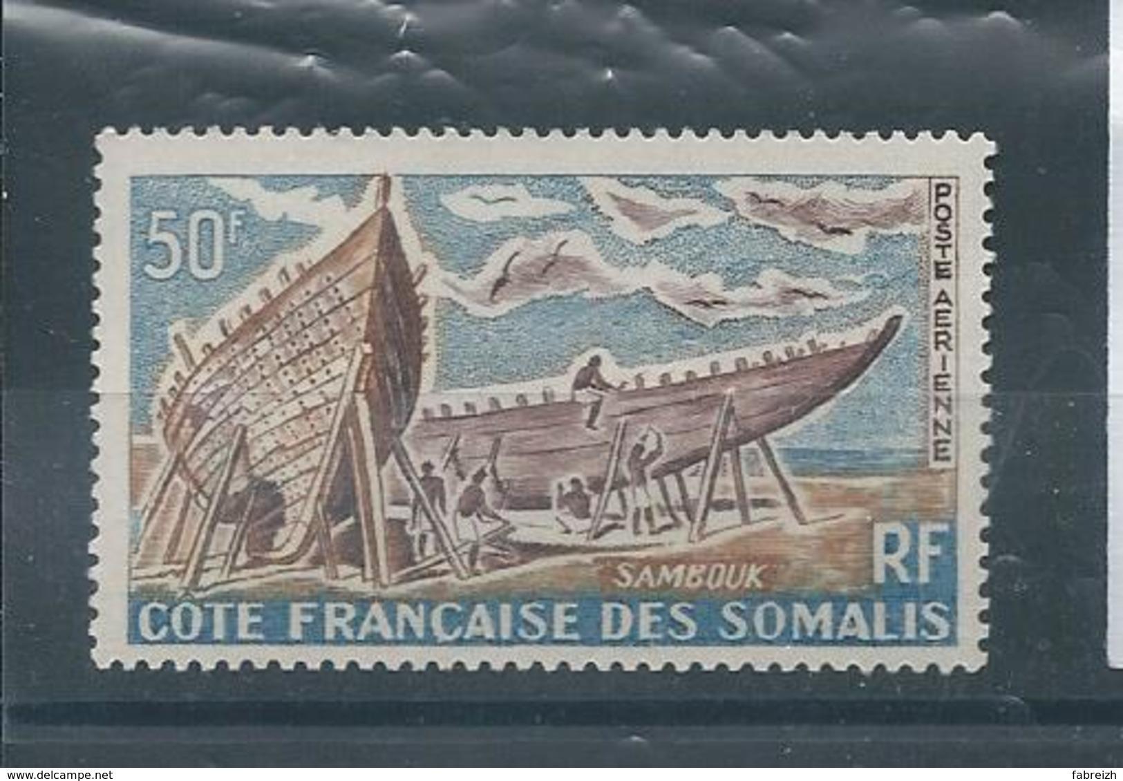COTE FRANCAISE DES SOMALIS P.a. N° 38 * *  T.B - Unused Stamps