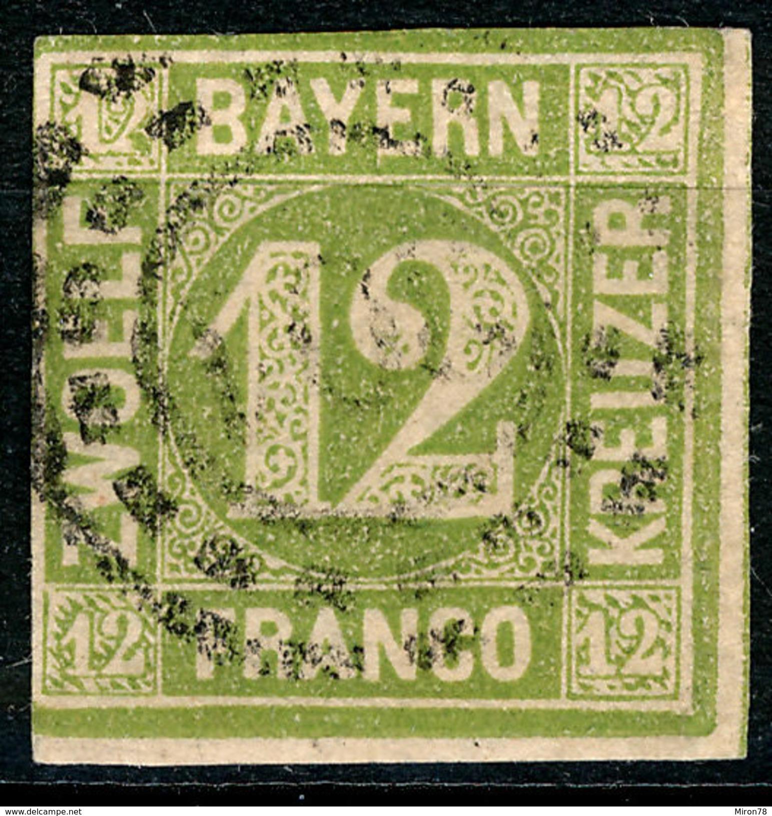 Stamp German States  Bavaria 1862 12kr Used Lot47 - Bayern