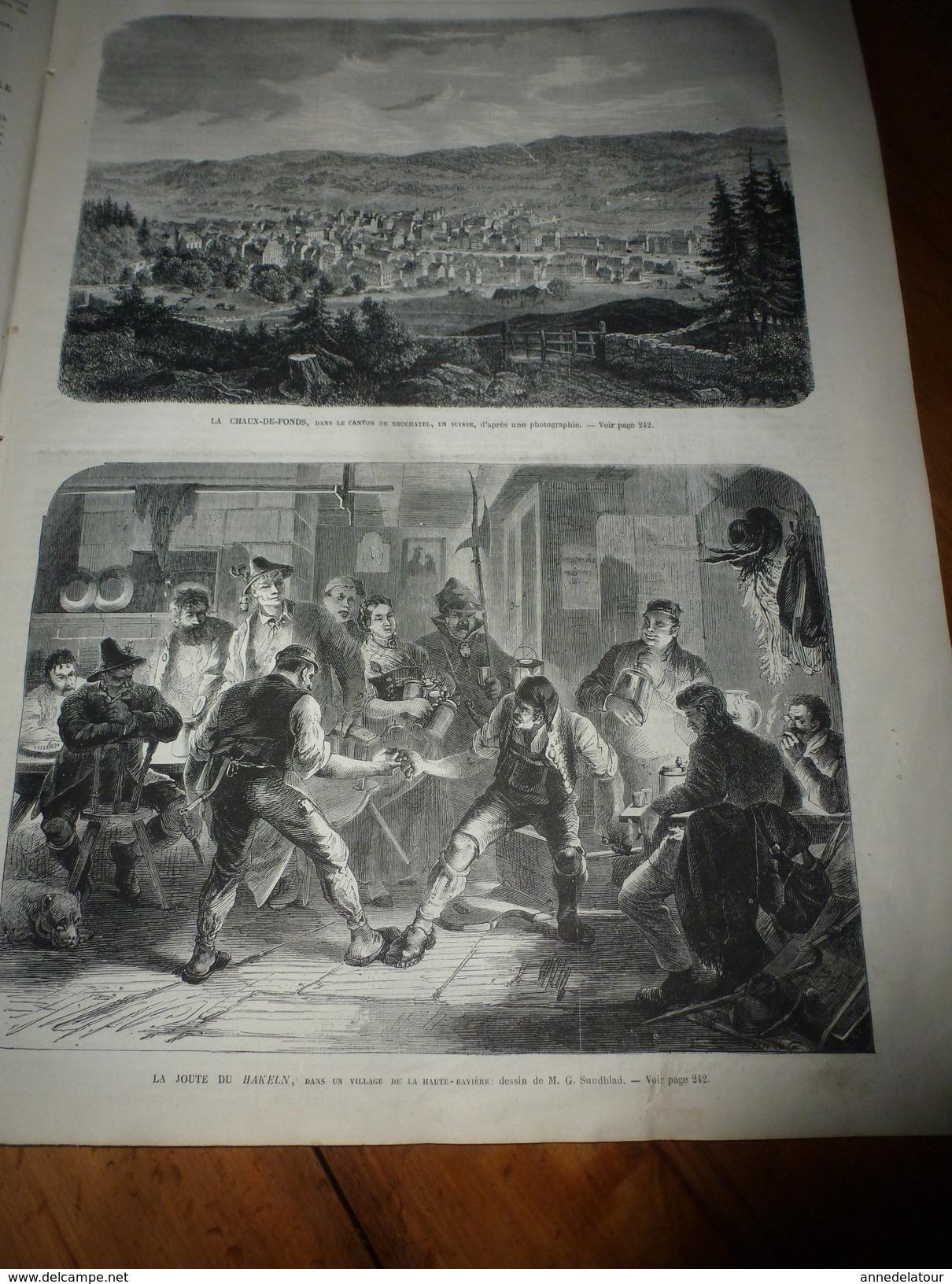 1868 Gare TURIN Pl Carlo-Félice;Joute HAKELN,Allemagne;Lissa;Baie De Taboga (PANAMA);Chanson SARAH La GRISE;Foire-jambon - Non Classés