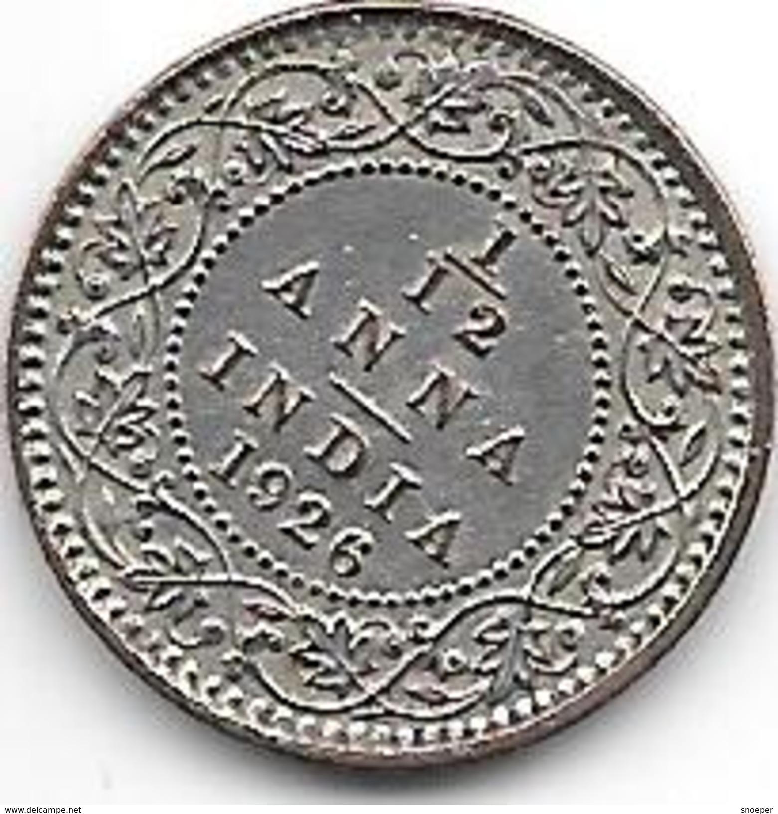 *britisch  India 1/12 Anna   1926 C Km 509   Unc!!!! With Silver Coating - Inde