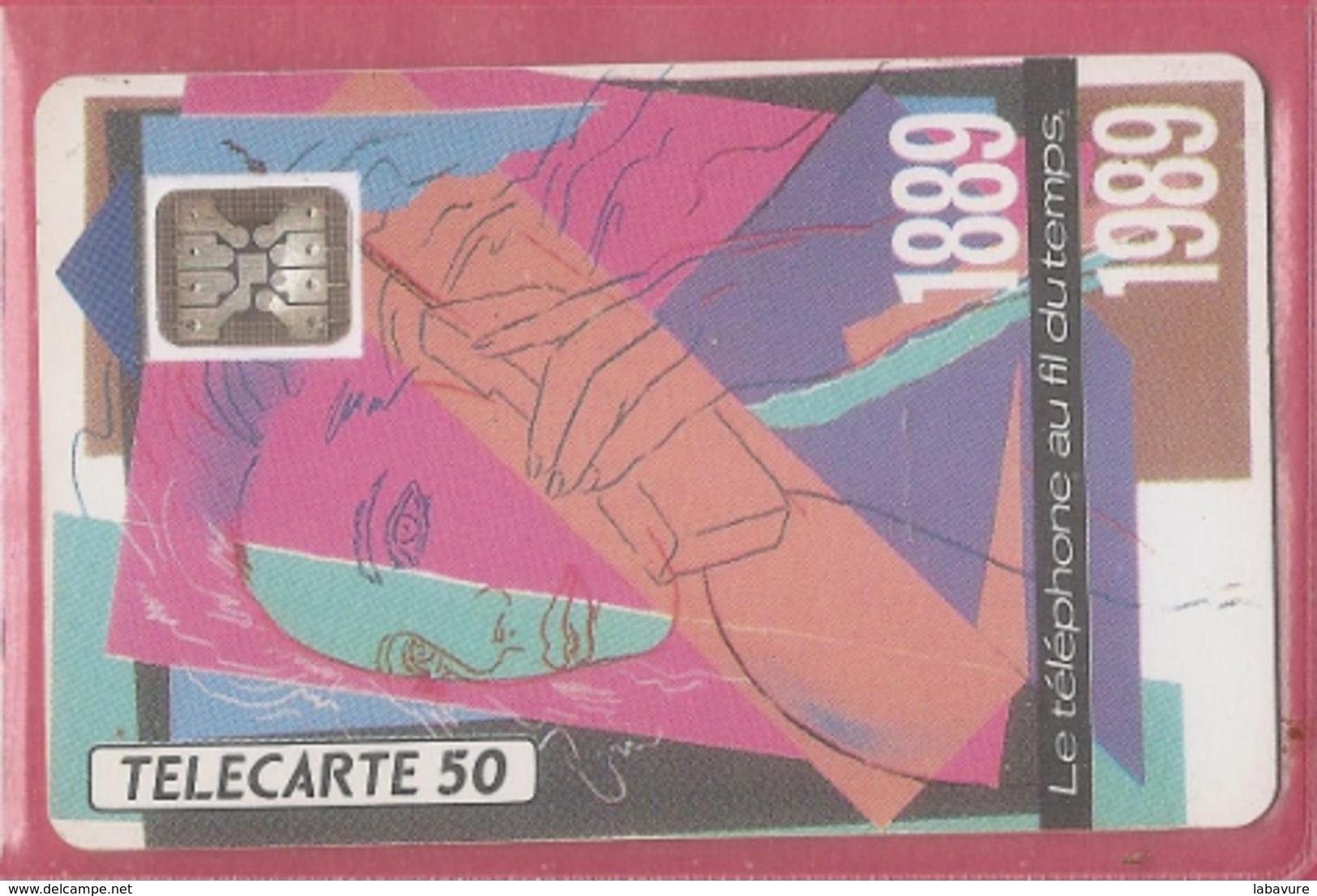 F 92- TÉLÉPHONE AU FIL DU TEMPS--50 SC4----N° 107684---pe-- - France