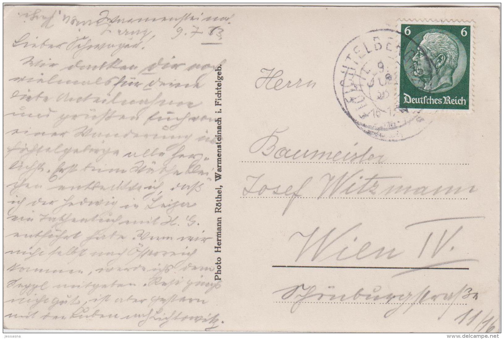 AK - WARMENSTEINACH - Teilansicht 1933 - Bayreuth