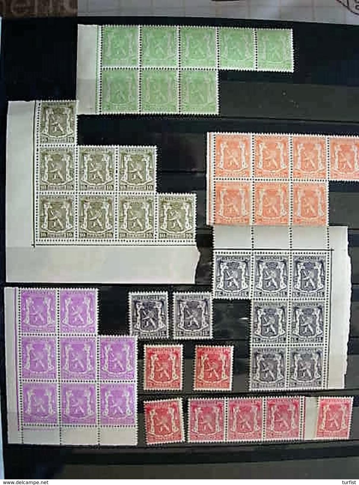 NRS 418A(x8)419(x7)420(x8)421(x9)422(x8)423(x7)424(x11)425(x9)426(x8) POSTFRIS - 1935-1949 Kleines Staatssiegel