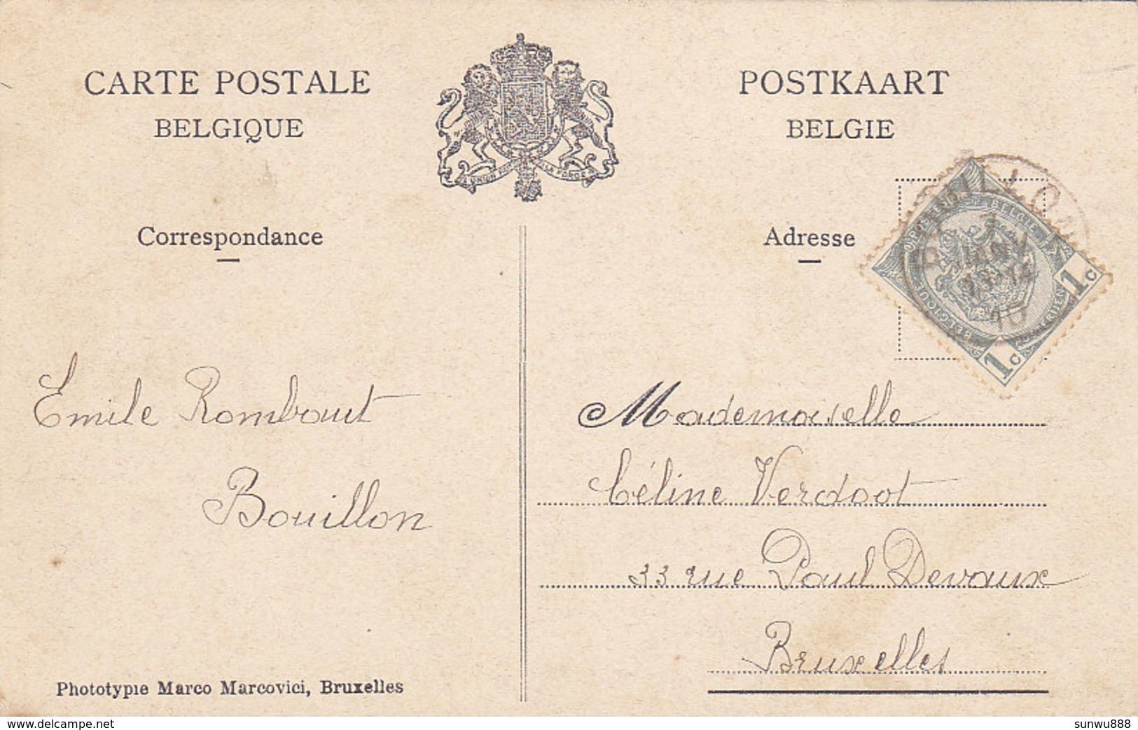 Bouillon - Hôtel De La Poste (Edit Amélie Bourland, Phototypie Marco Marcovici, 1910) - Bouillon