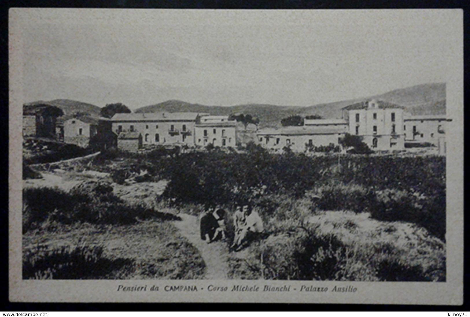 Pensieri Da CAMPANA (CS) - Corso Michele Bianchi - Palazzo Ausilio - Cartolina 1947 - Cosenza