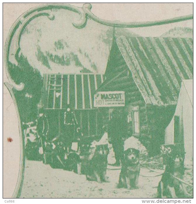 Alaska 1902 Attelage De Chiens Mascot Dog Team N°3309 éditeur Buendinggen Art Pub Denver Dos Scanné - Vereinigte Staaten