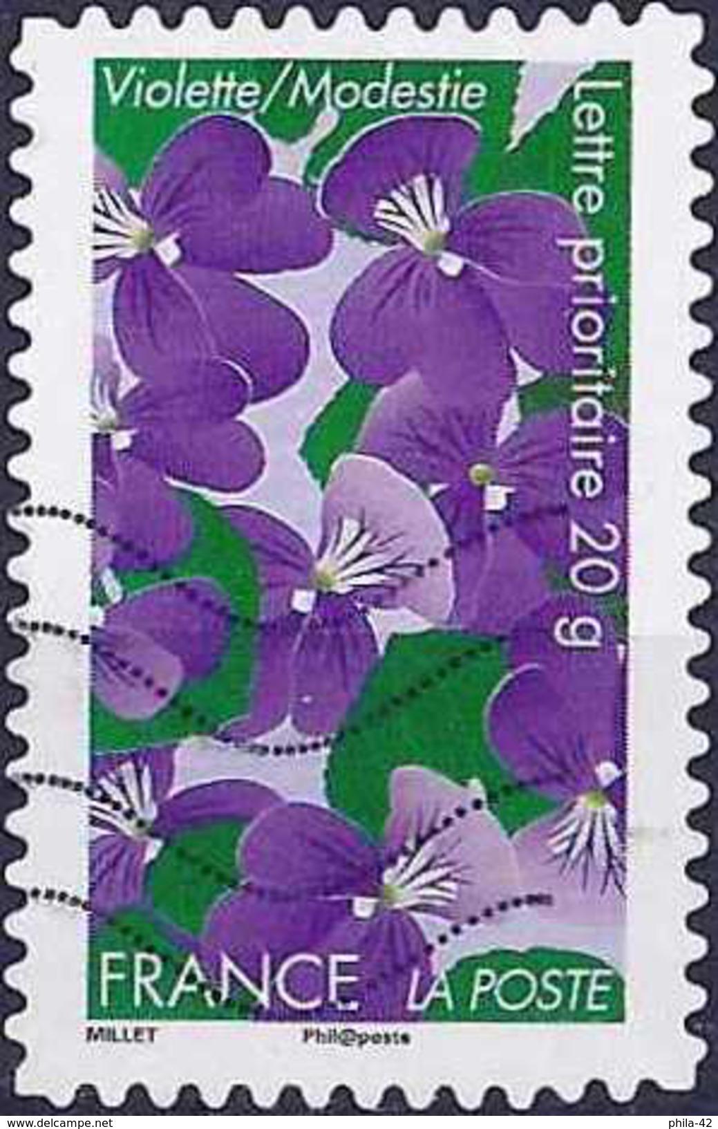 France 2012 - Flowers : Violets ( Mi 5275 - YT AD 663 ) - Adhésifs (autocollants)